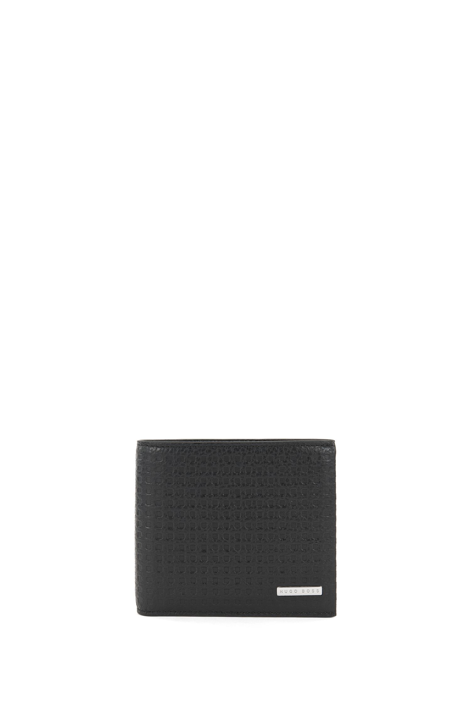 Perforated Leather Billfold Wallet | Marseille , Black