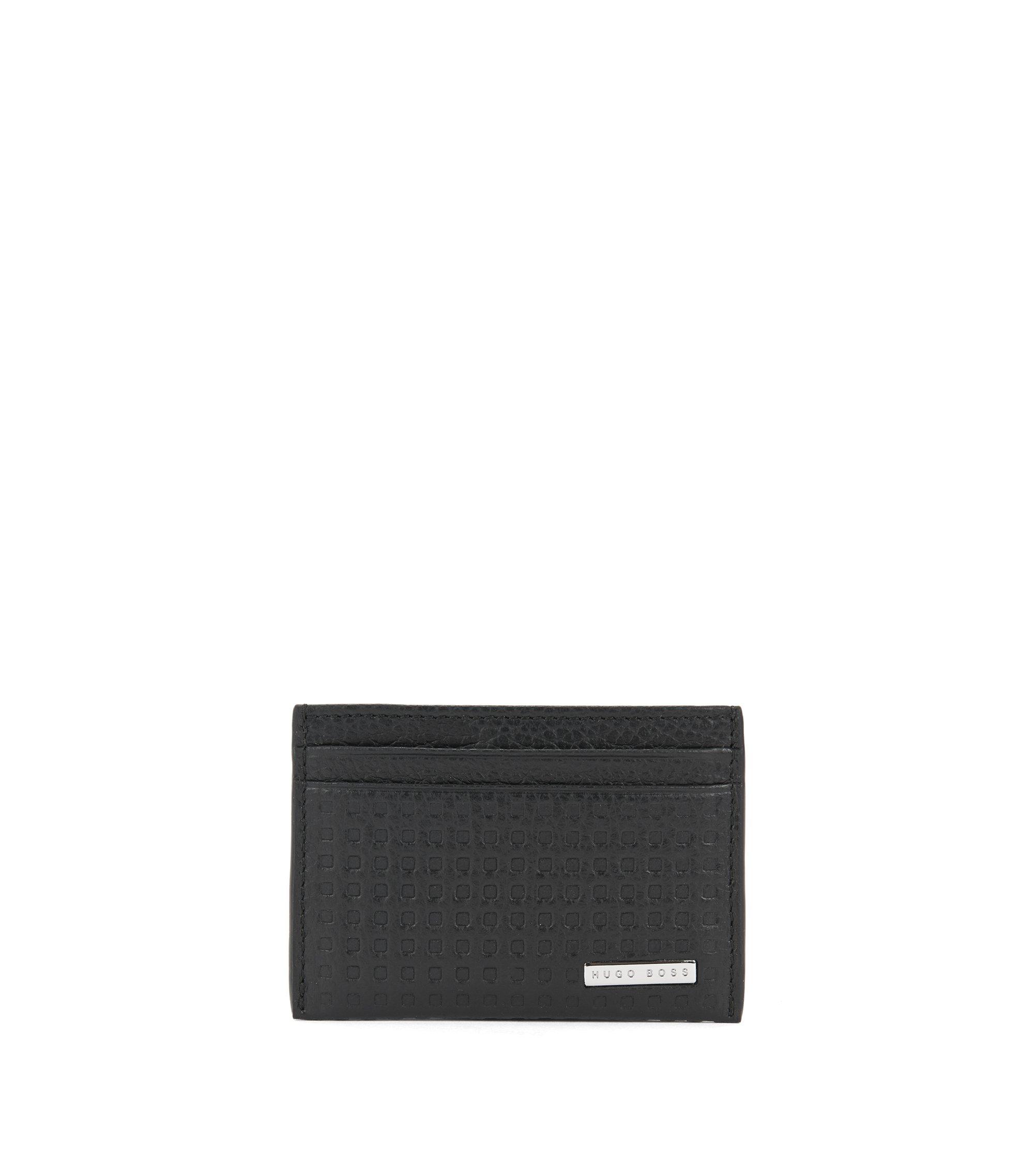 Leather Card Holder | Marseille S Card, Black