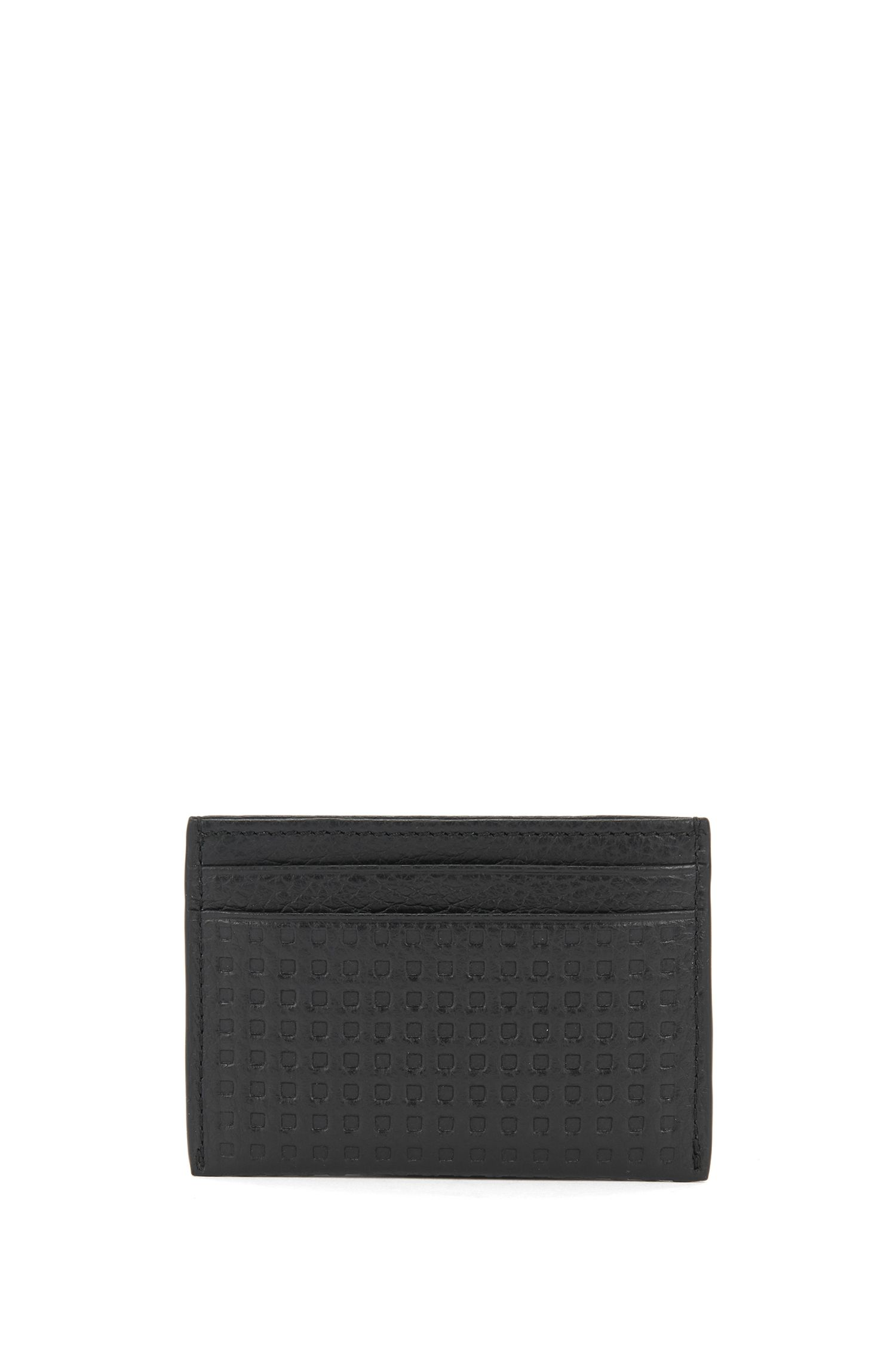 Leather Card Holder | Marseille S Card, Black