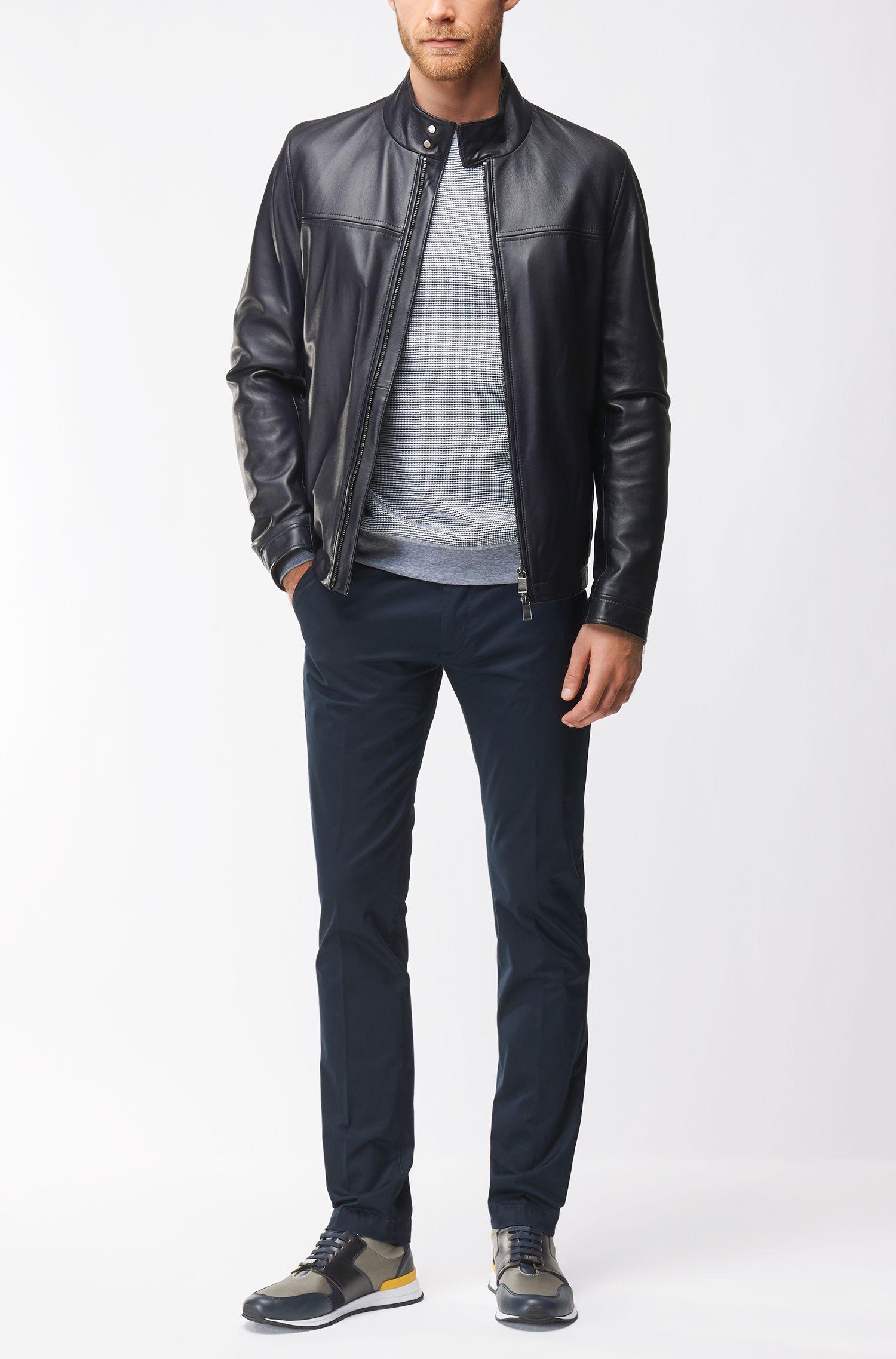 Leather Sneaker | Legacy Runn Nylt, Open Blue