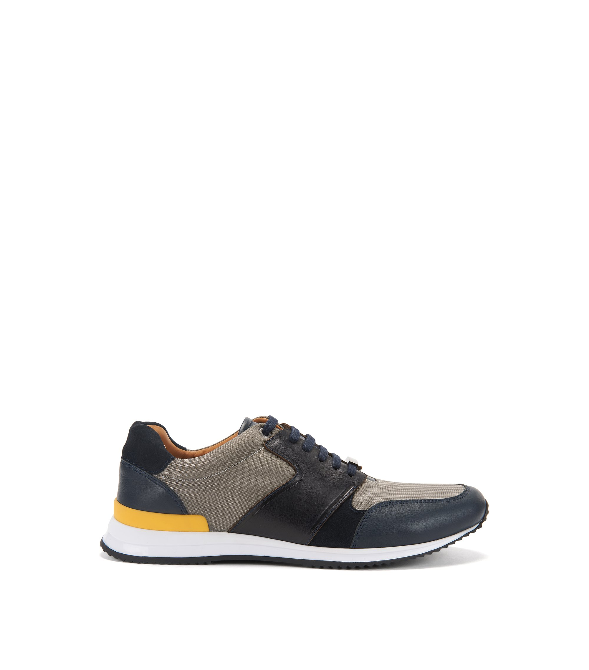 Leather Sneaker | Legacy Runn Nylt, Open Blue
