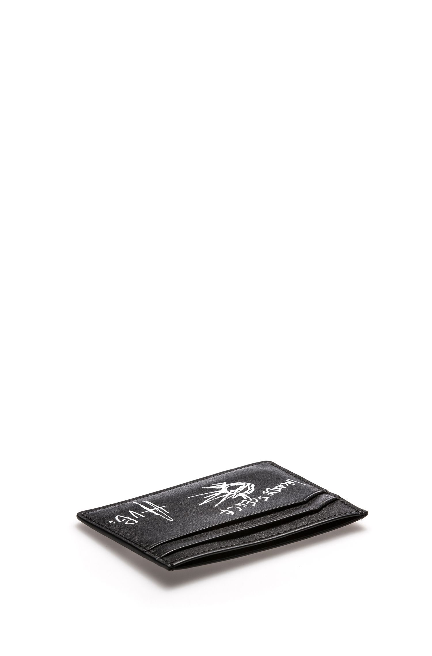 Graphic Print Leather Card Holder | Tribute P S Card