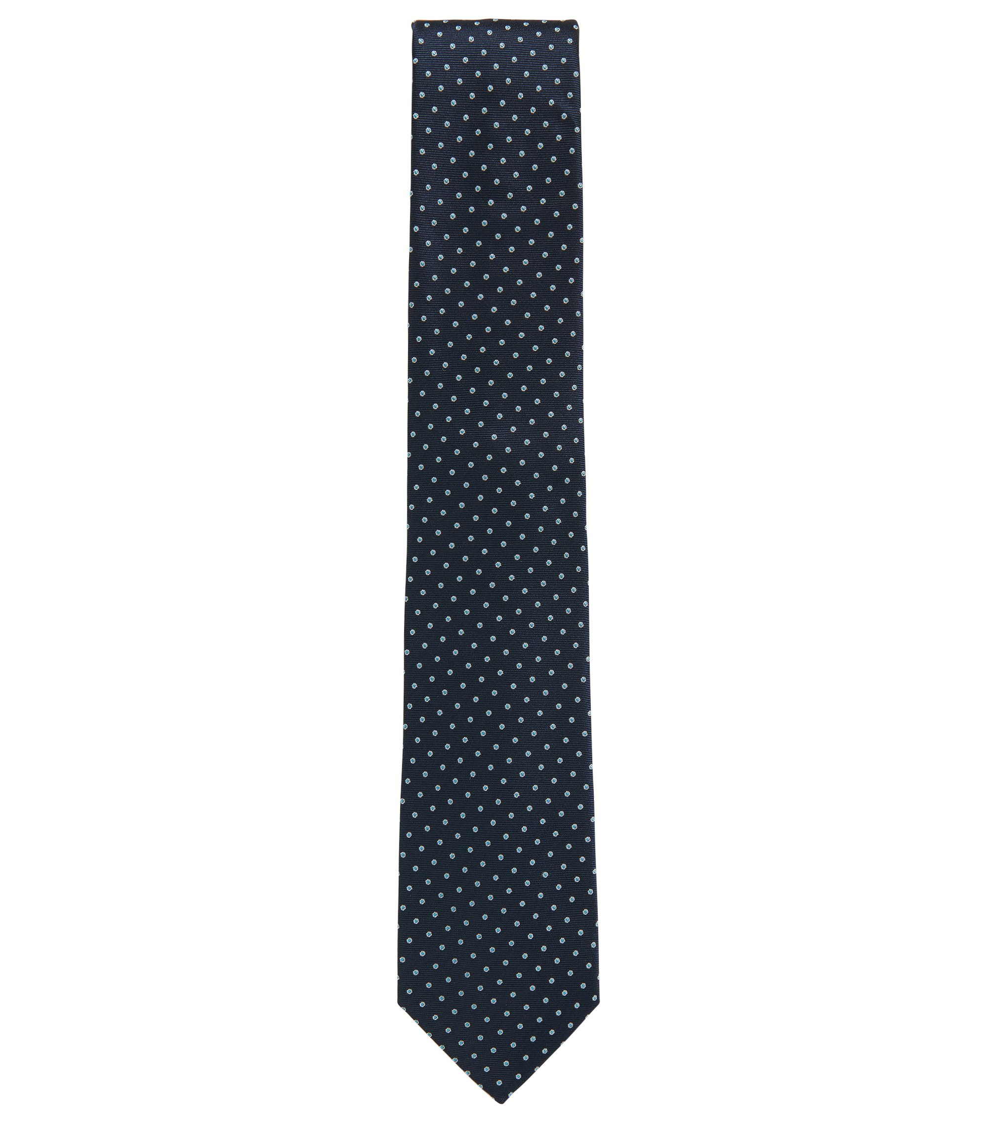 Polka Dot Silk Blend Tie , Light Blue