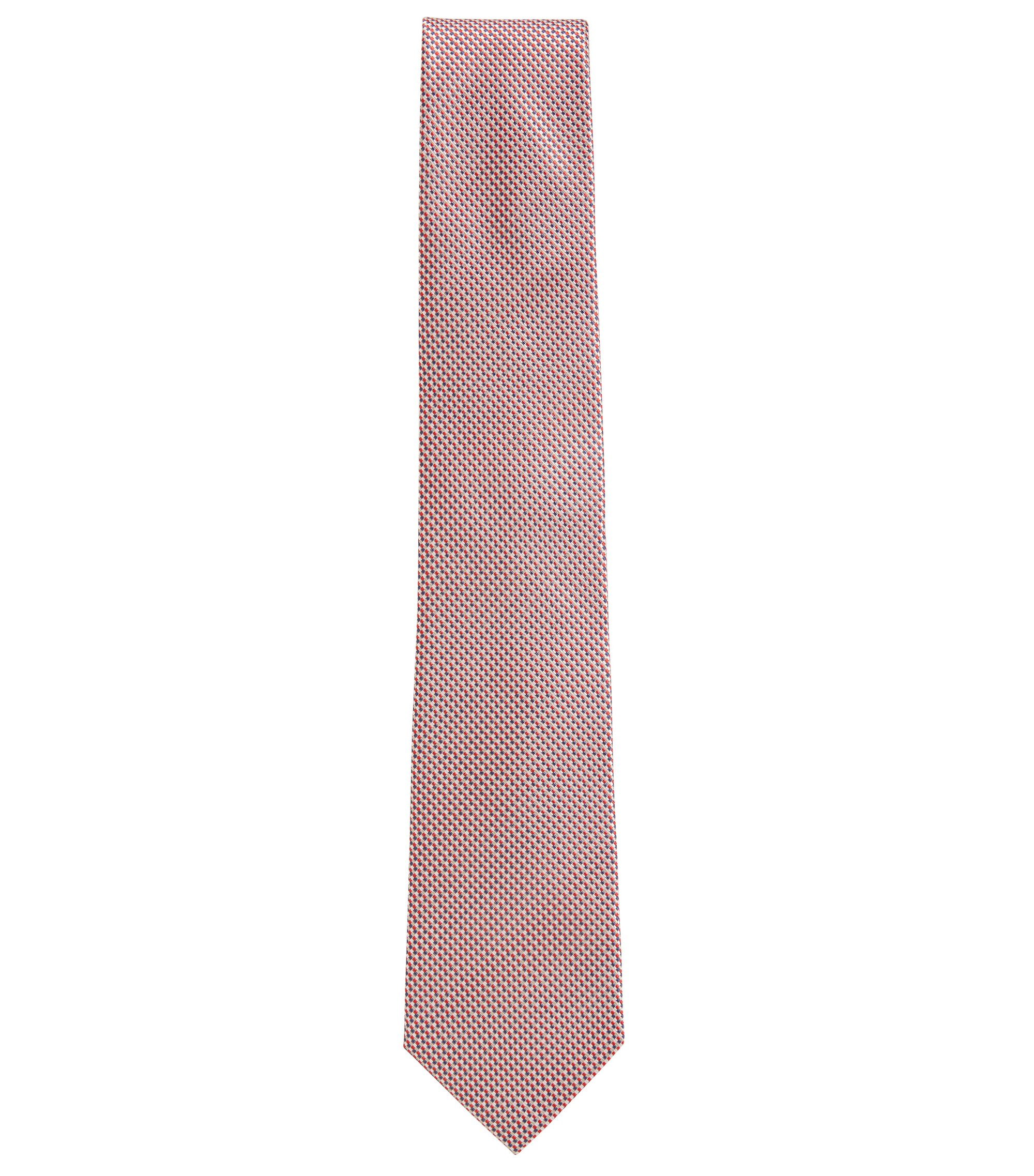 Micro-Patterned Italian Silk Tie, Dark pink