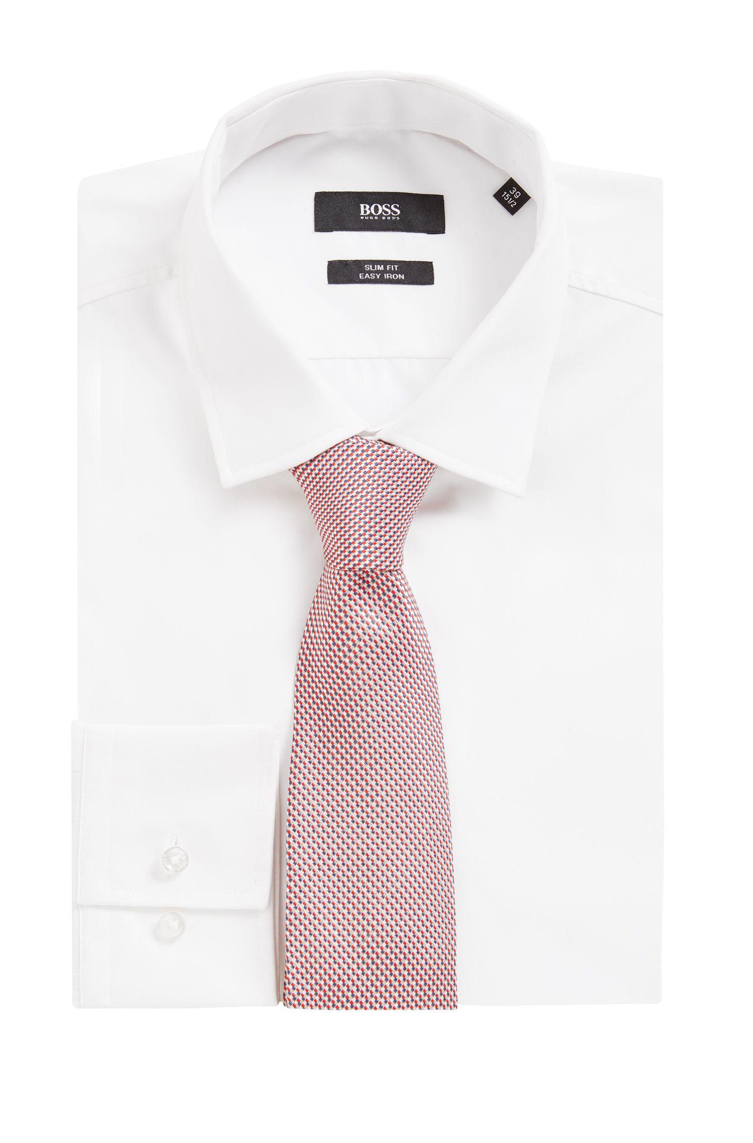 Micro-Patterned Italian Silk Tie