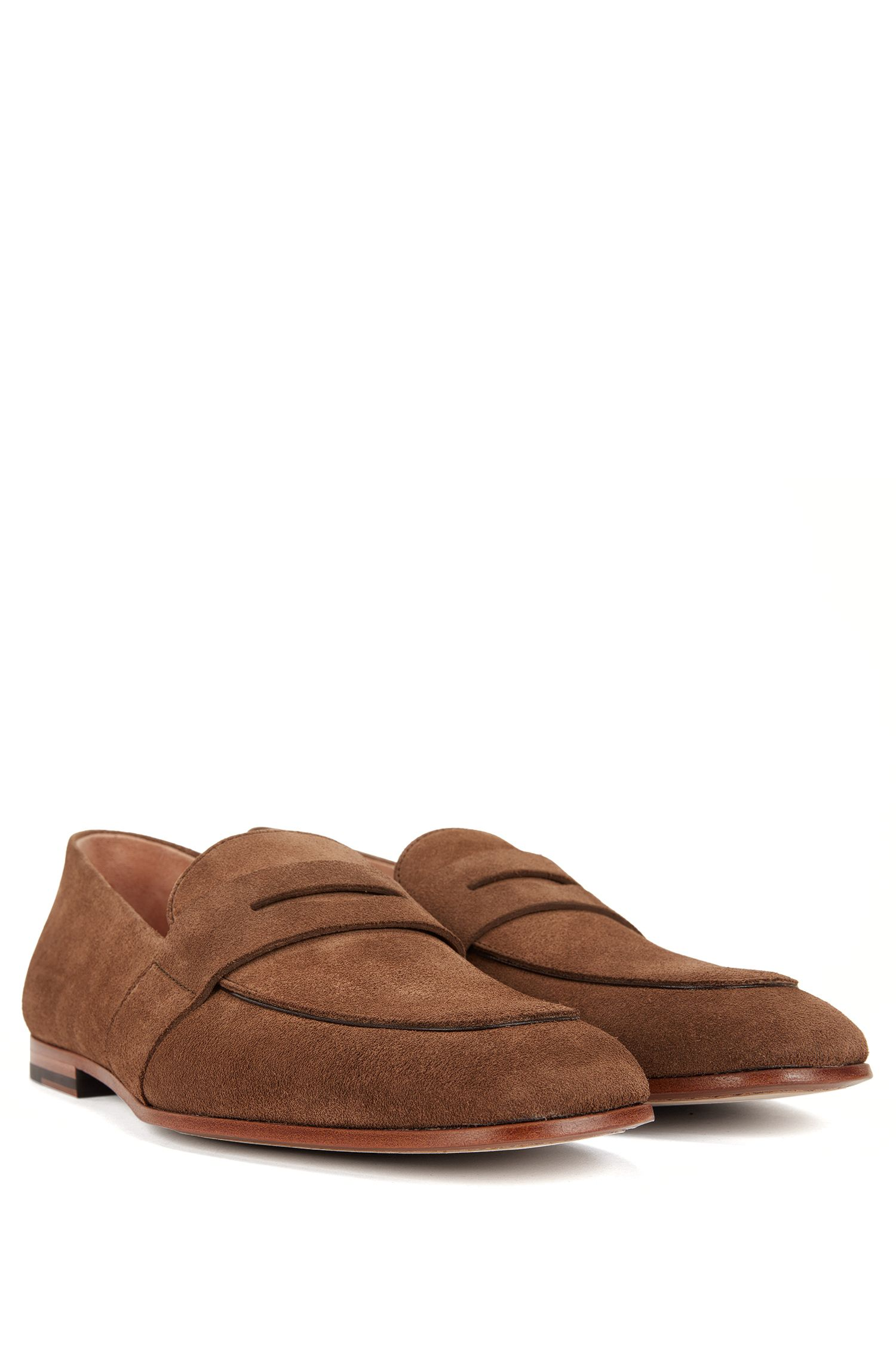 Suede Penny Loafer | Safari Loaf , Khaki