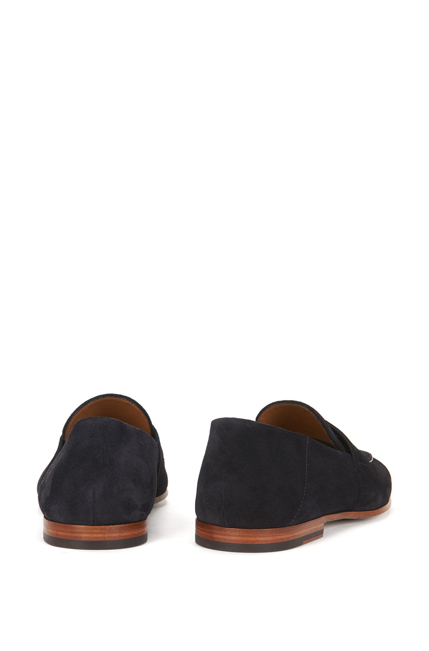 Suede Penny Loafer | Safari Loaf , Dark Blue