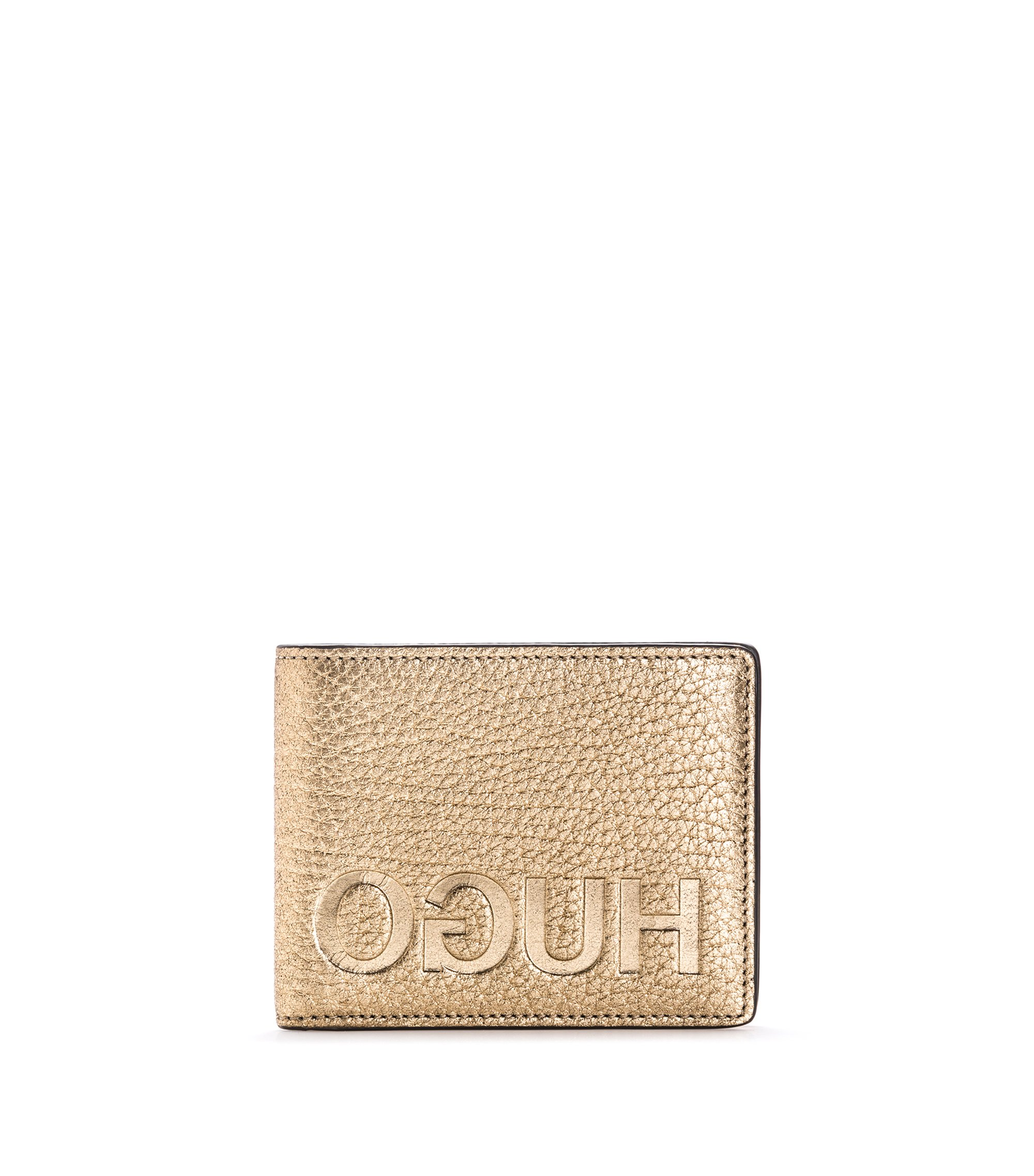 Gold-Tone Leather Billfold Wallet | Victorian LL, Gold