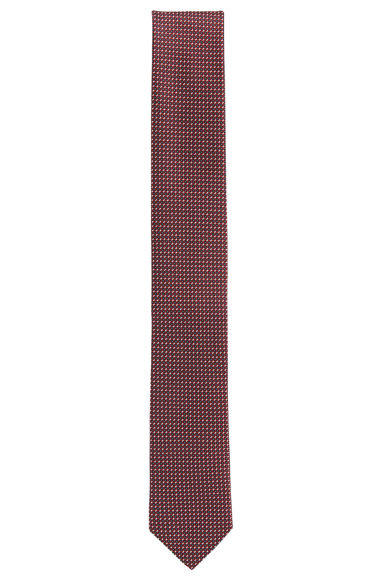 Pindot Italian Silk Slim Tie