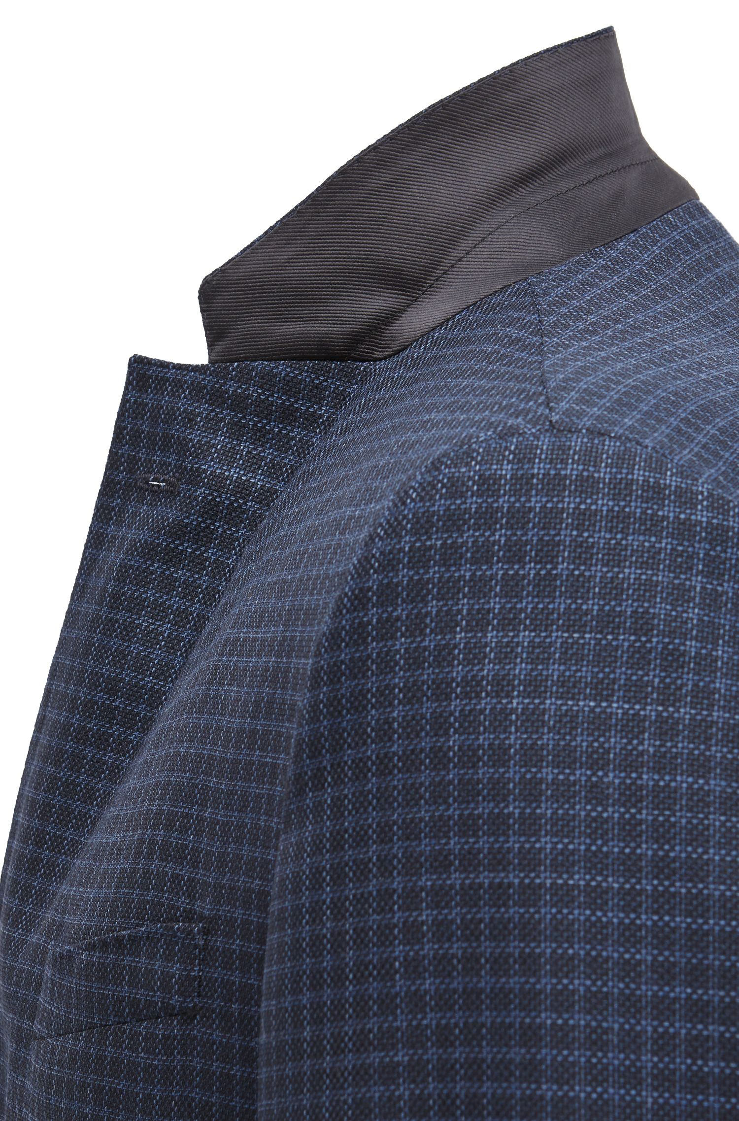 Grid Check italian Virgin Wool Sport Coat, Slim Fit | Nobis