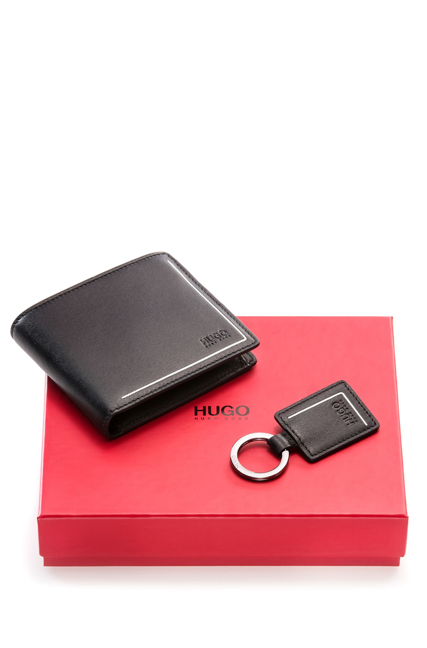 Wallet & Key Fob Gift Set | CC Coin K R, Black
