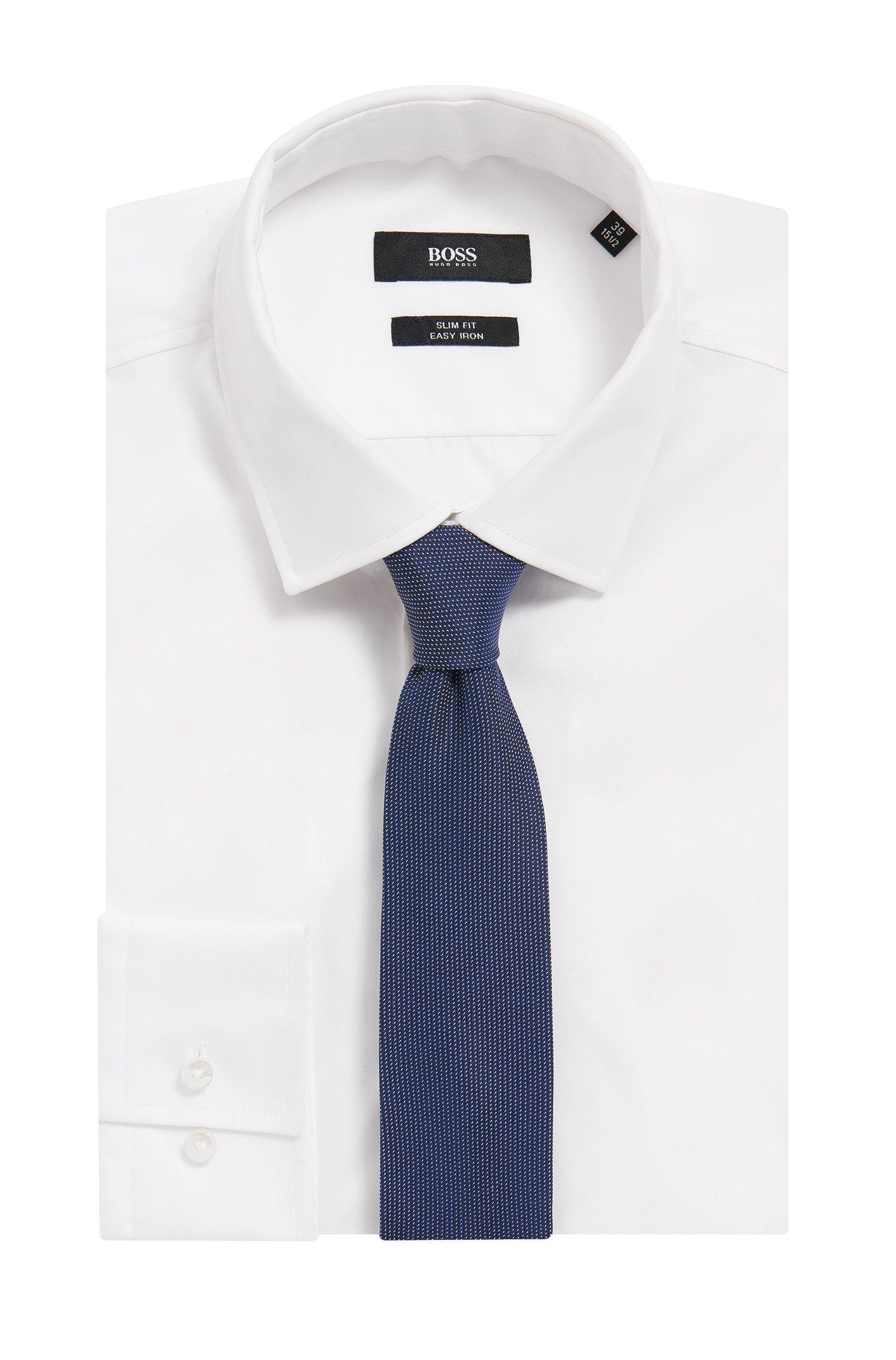 Micro-Patterned Italian Silk Slim Tie