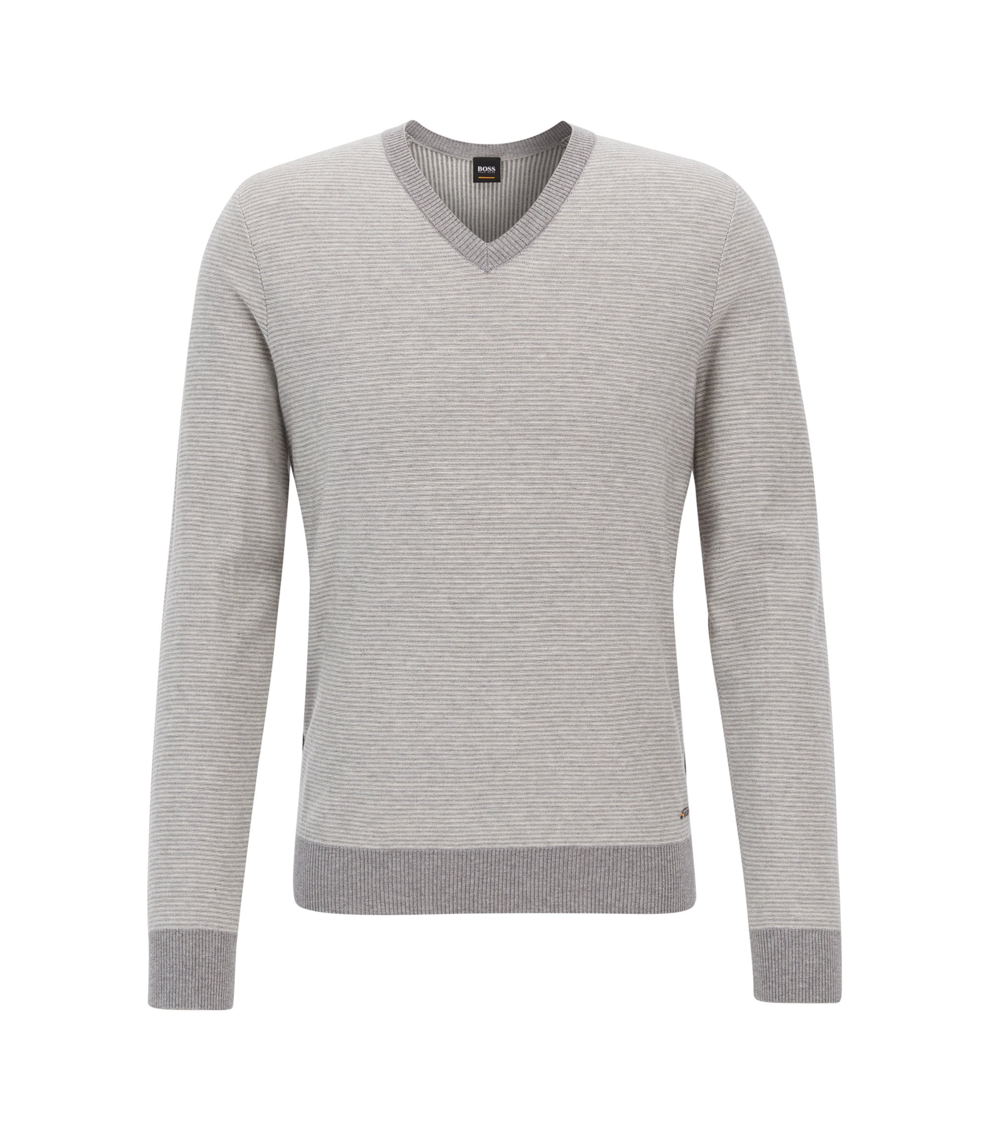 Cotton Silk Sweater | Kipaue, Light Grey