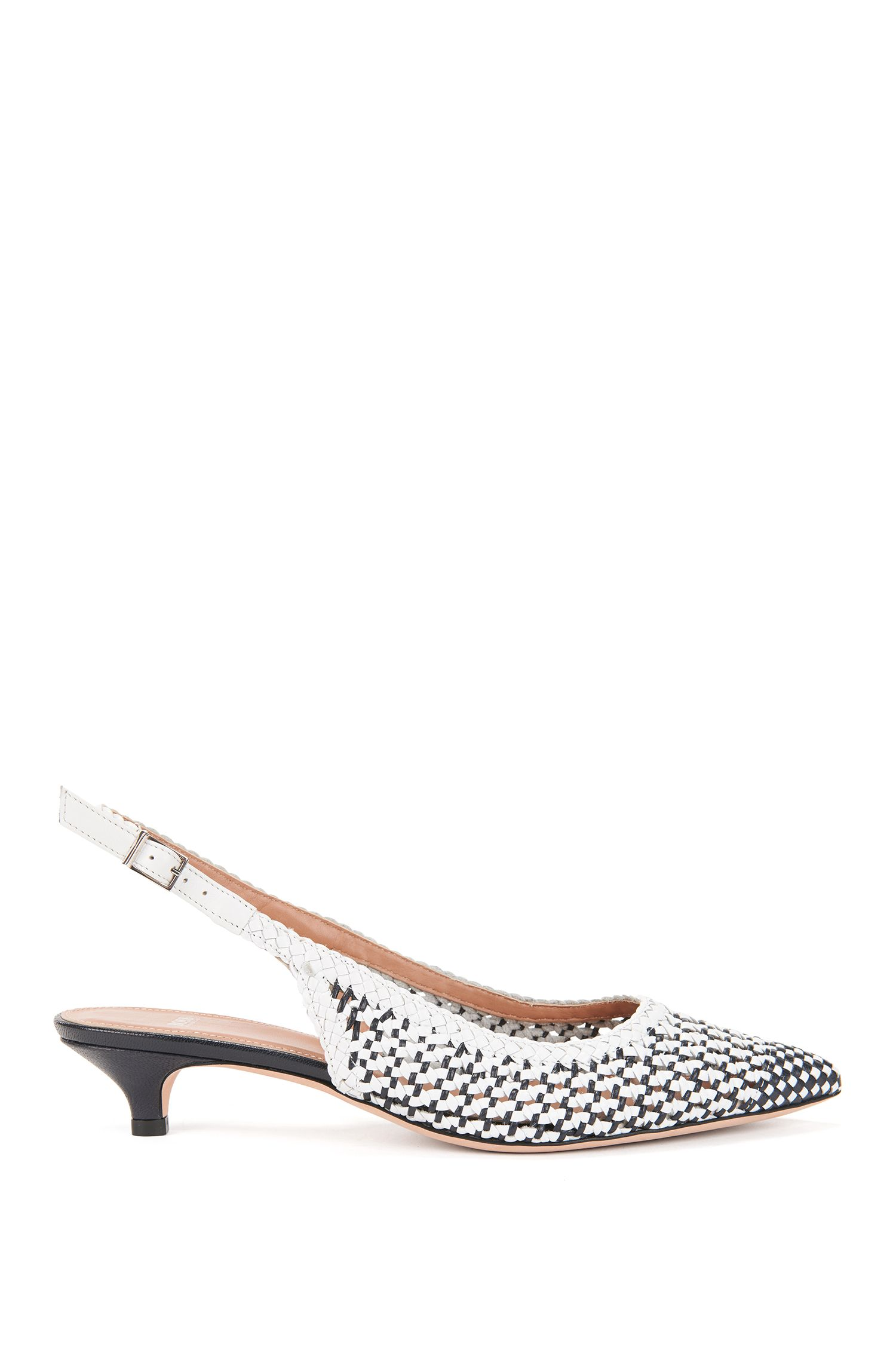 Woven Leather Slingback Pump | Eddie Sling Back