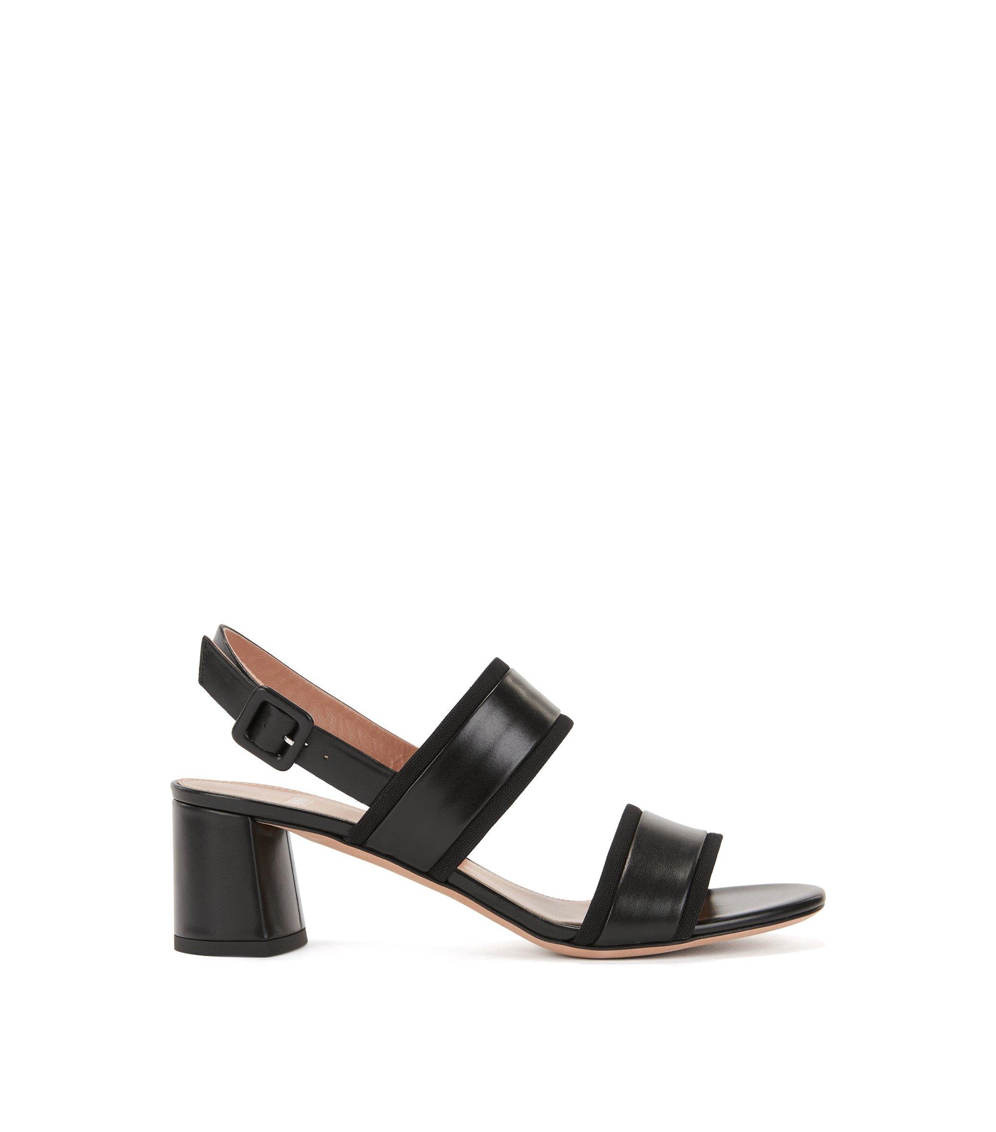 Leather Sandal | Adrienne Sandal, Black