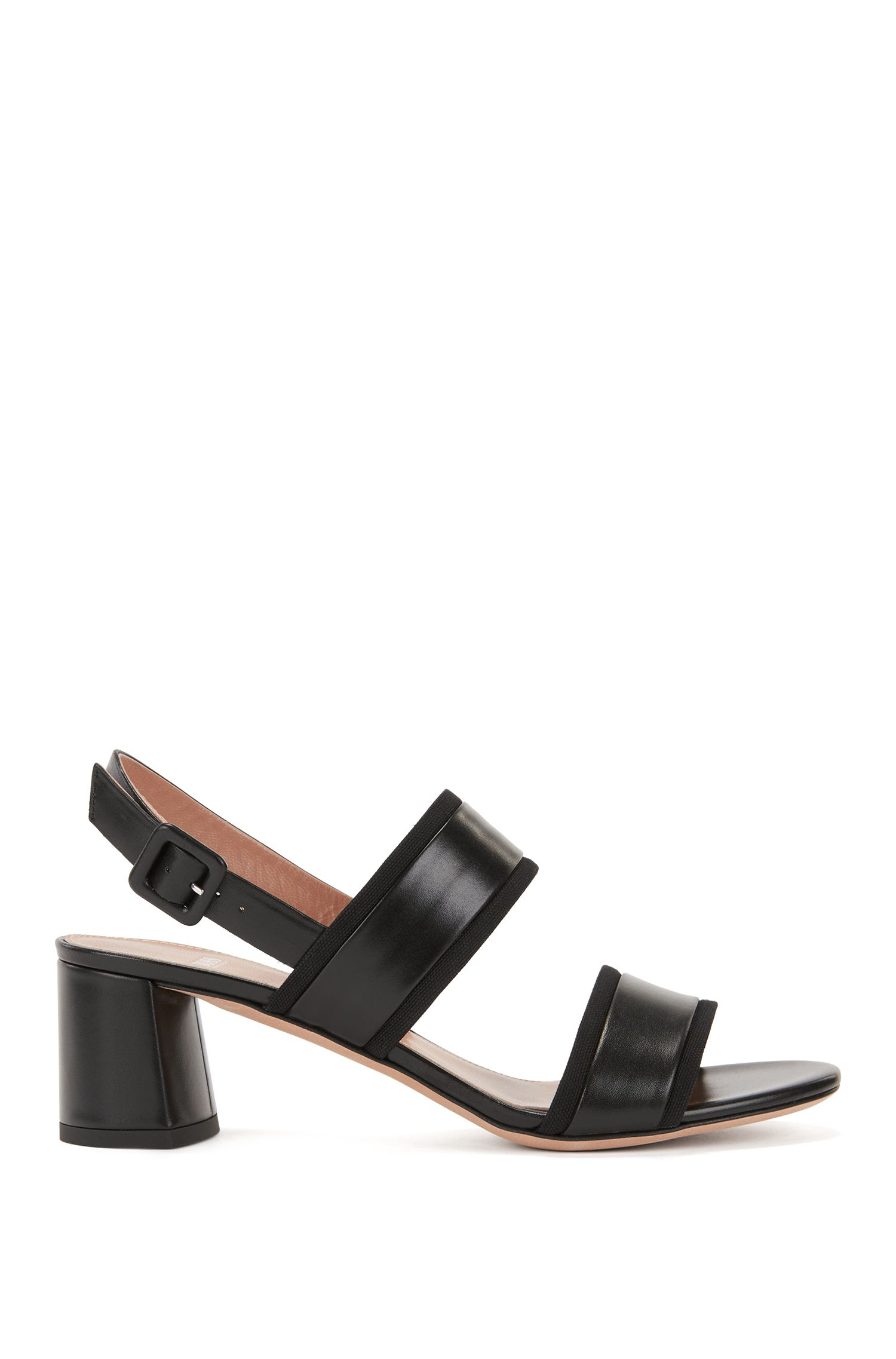 Leather Sandal | Adrienne Sandal, Black