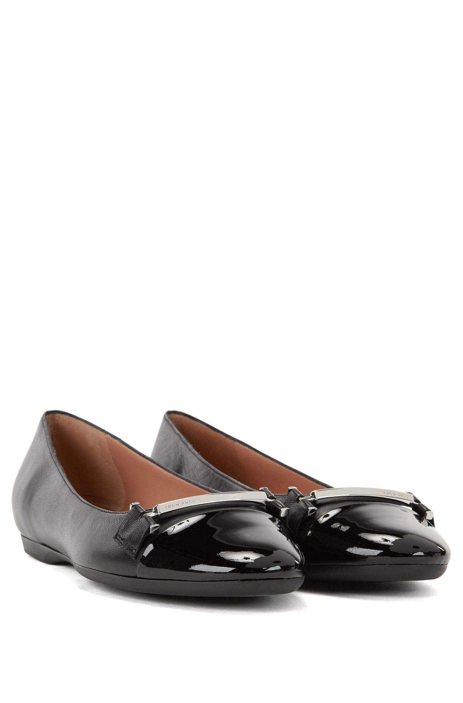 Sheepskin Horsebit Flat | Lara Ballerina, Black