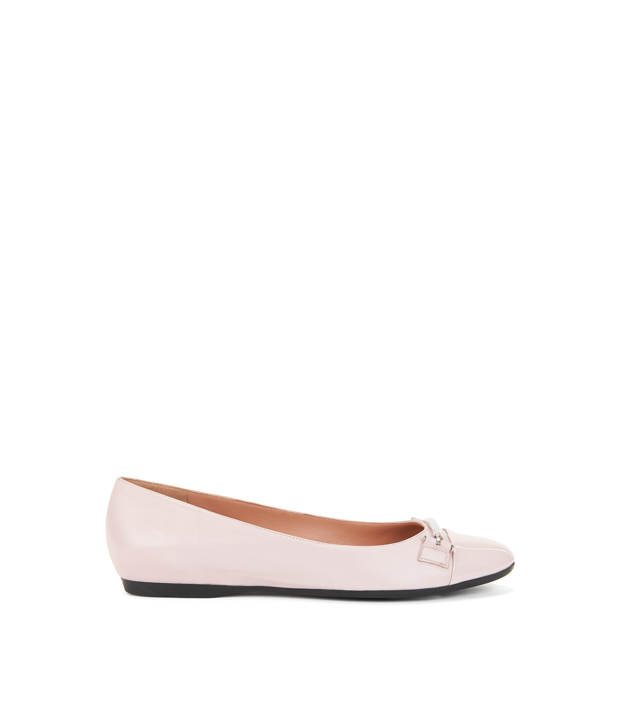 Sheepskin Horsebit Flat | Lara Ballerina, light pink