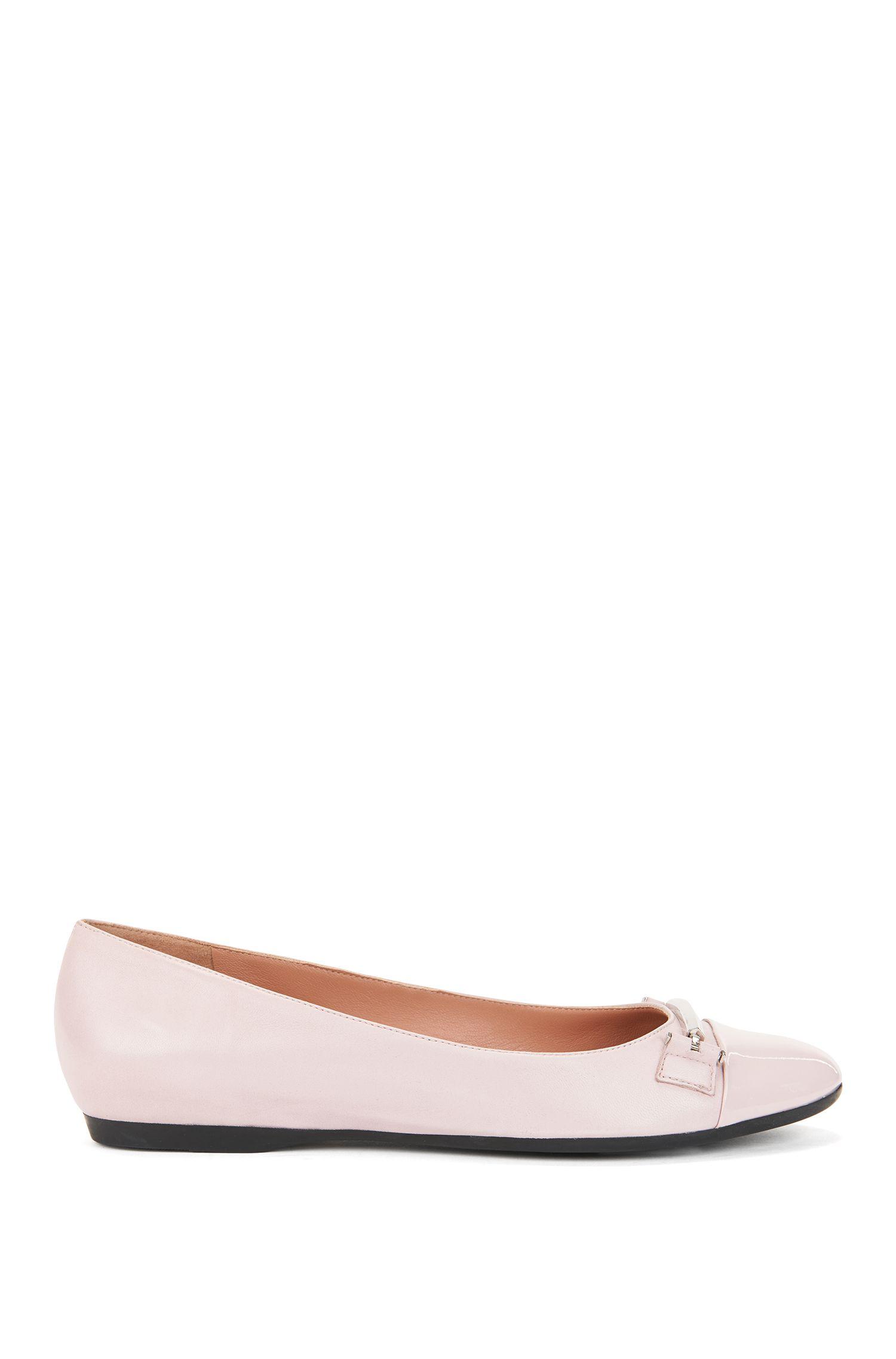 Sheepskin Horsebit Flat | Lara Ballerina, light pink