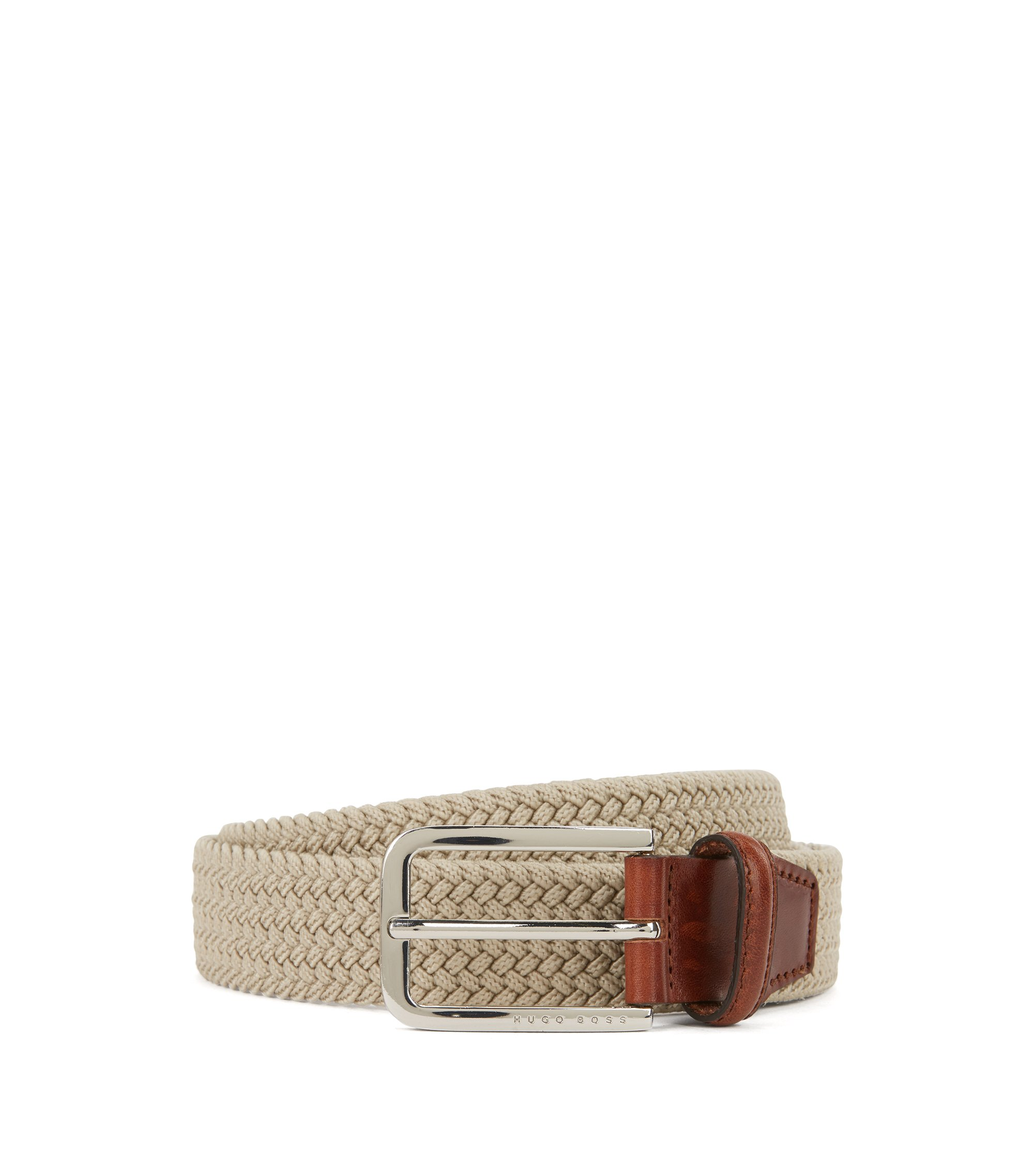 Woven Belt | Clorio , Light Beige