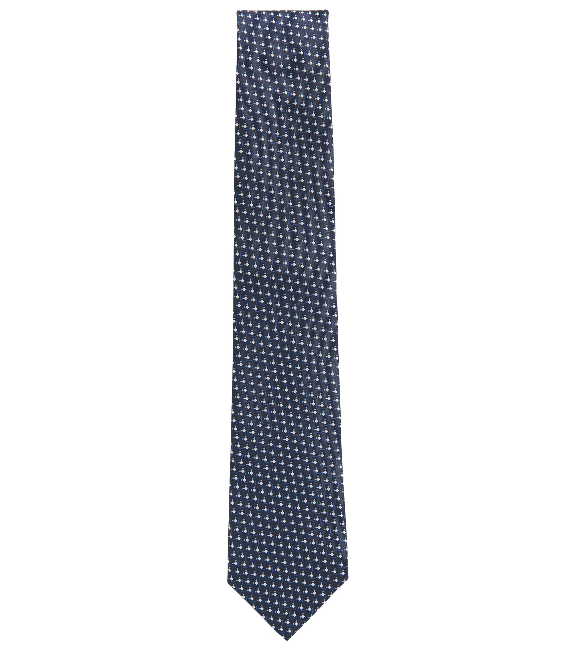 Dotted Italian Silk Tie, Open Blue