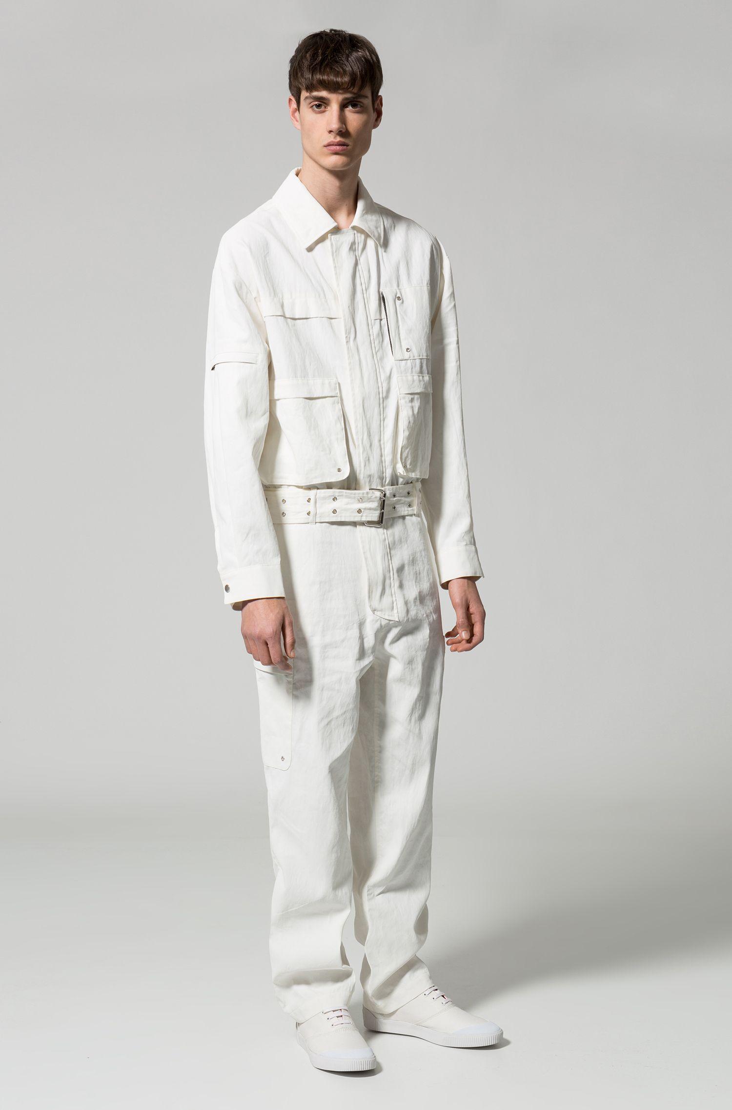 Linen Jumpsuit   Mogayou FS, Natural