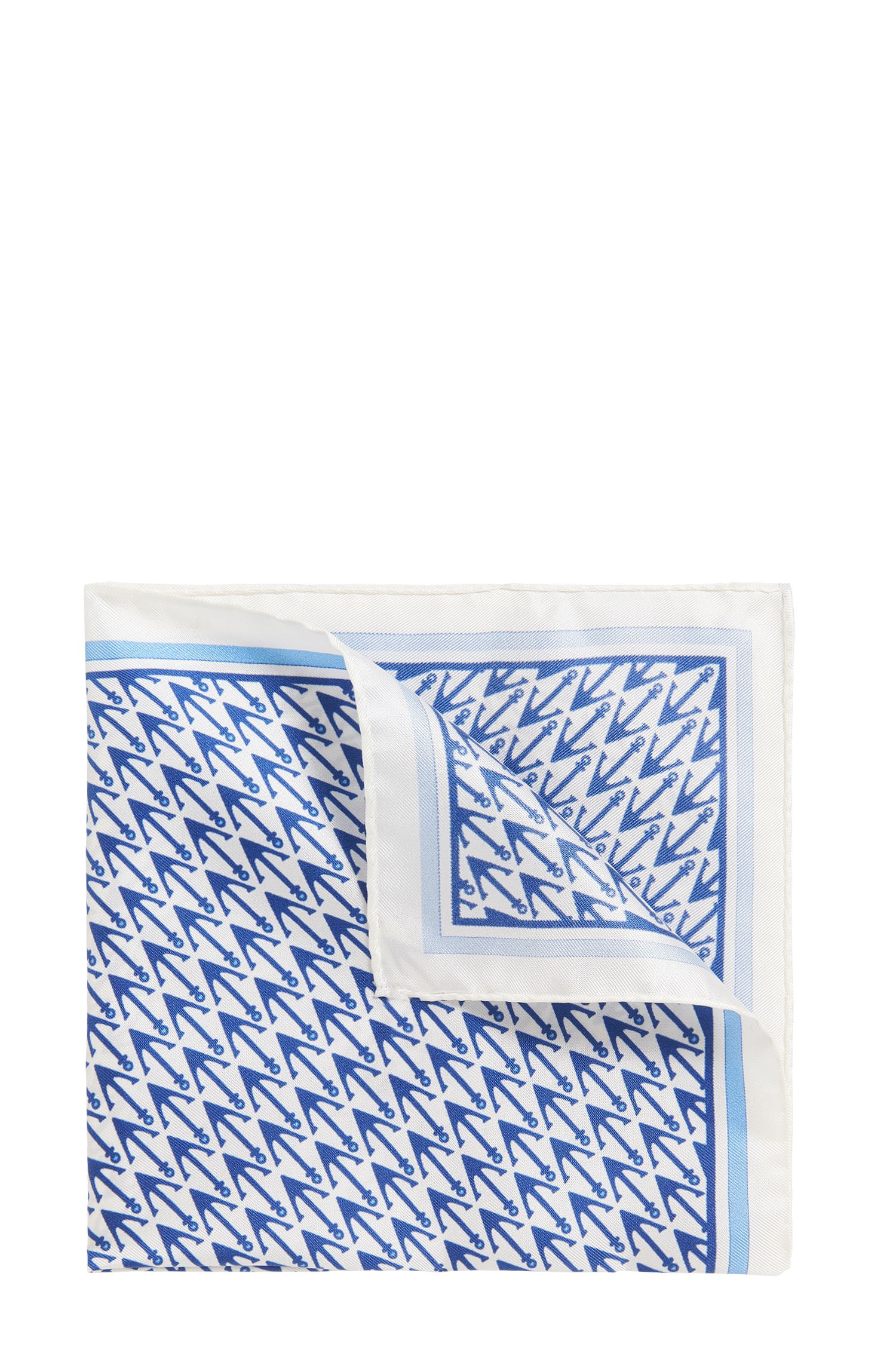 Anchor Italian Silk Pocket Square