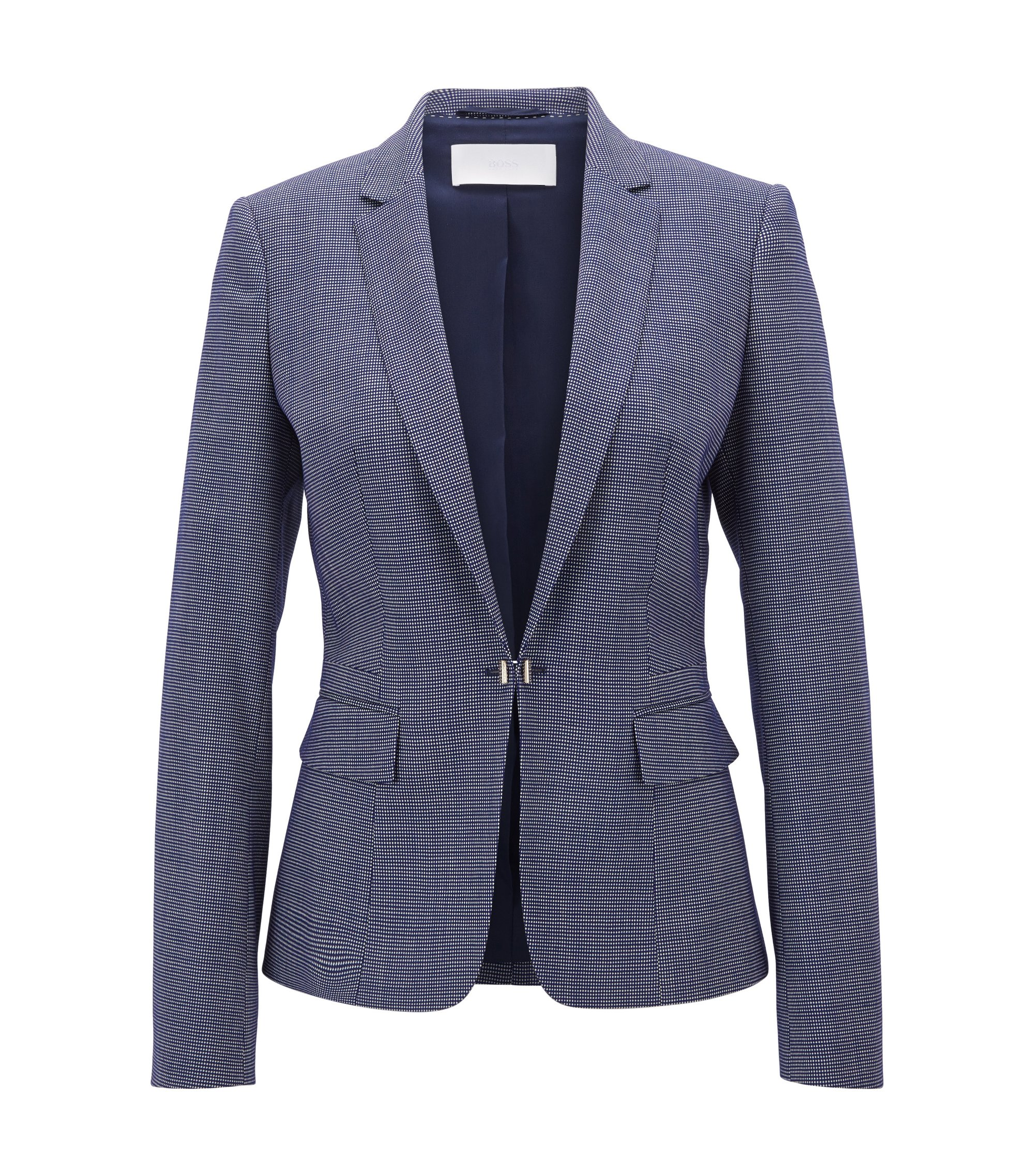 Stretch Virgin Wool Jacket | Jaflink , Patterned