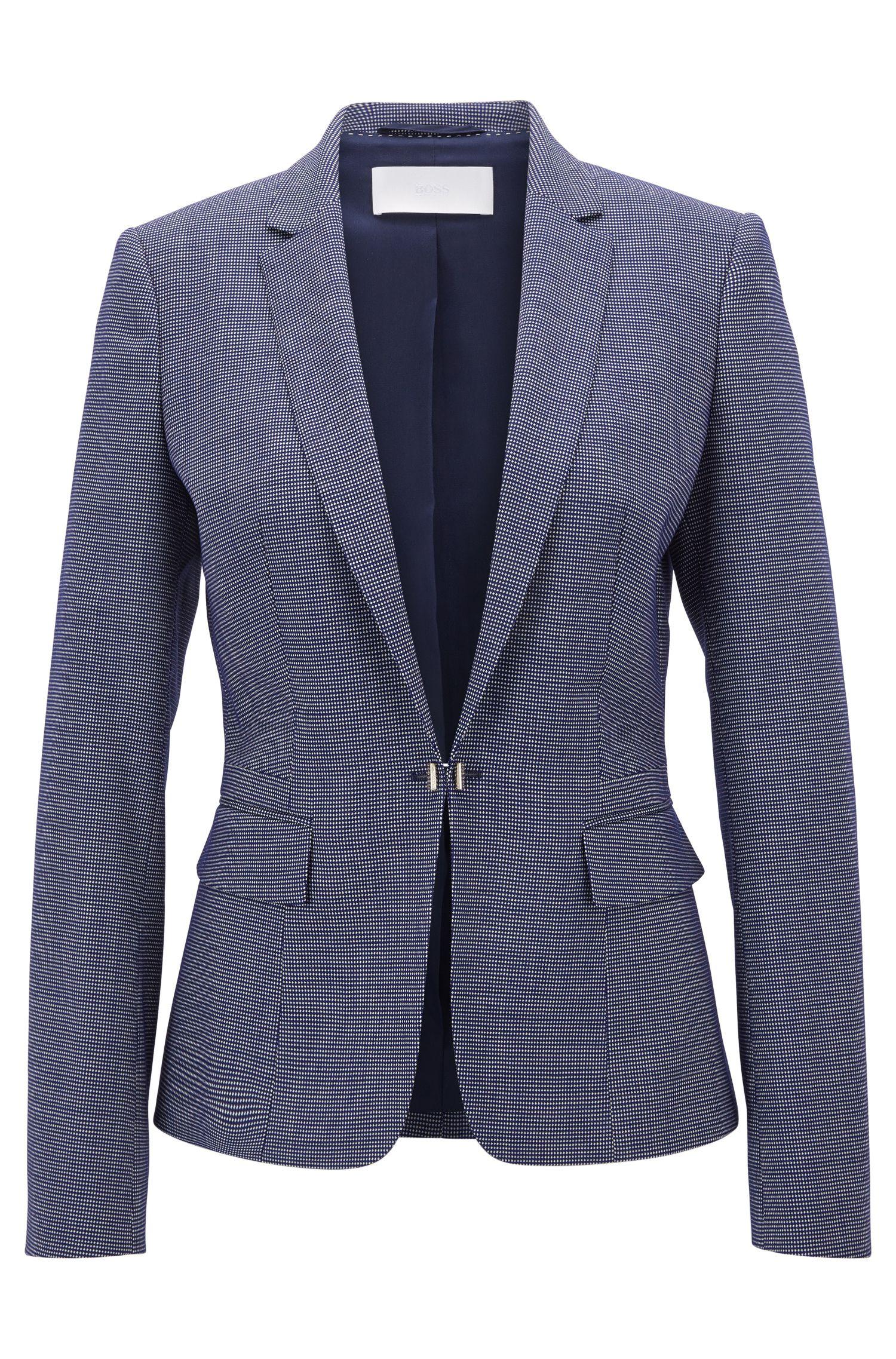 Stretch Virgin Wool Jacket | Jaflink , Patterned