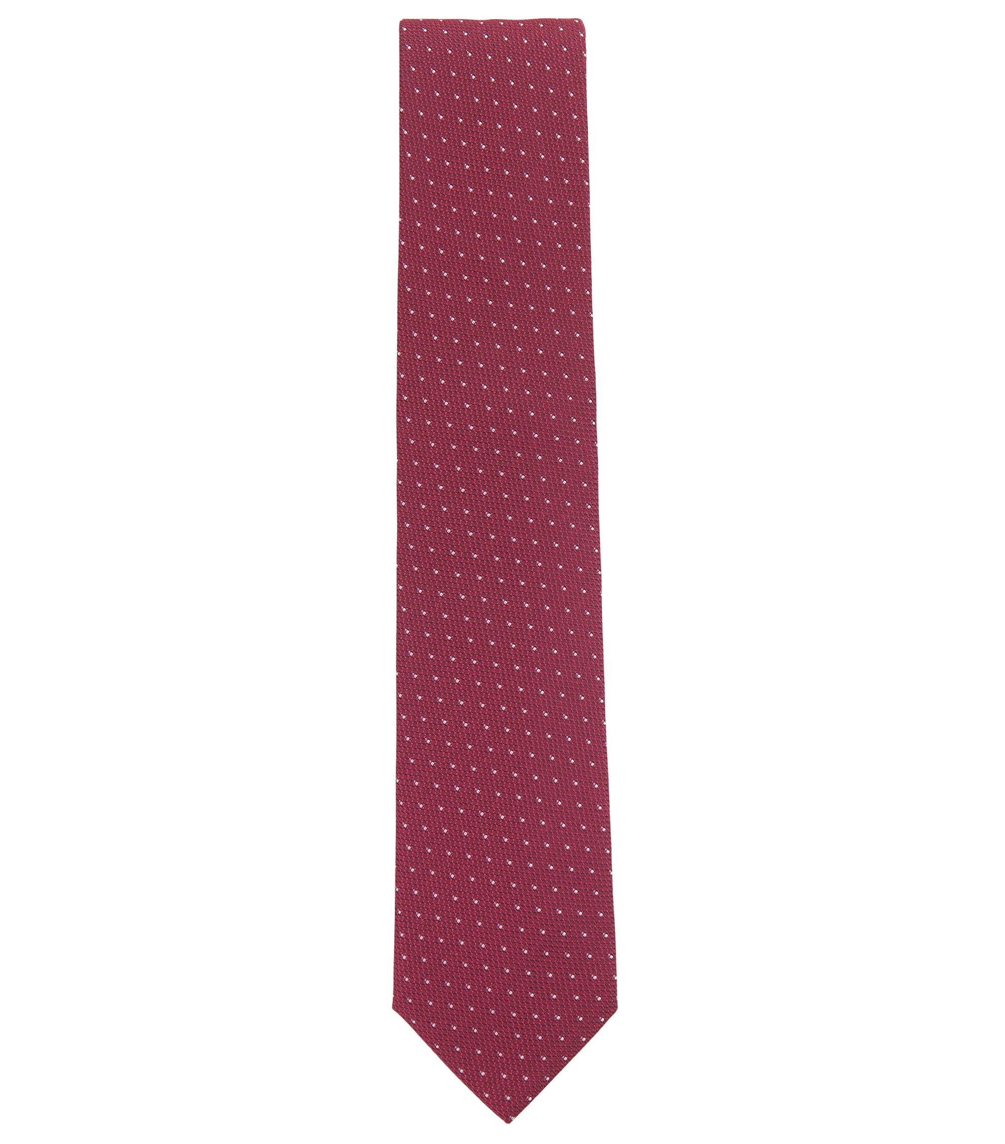 Patterned Jacquard Italian Silk Tie , Pink