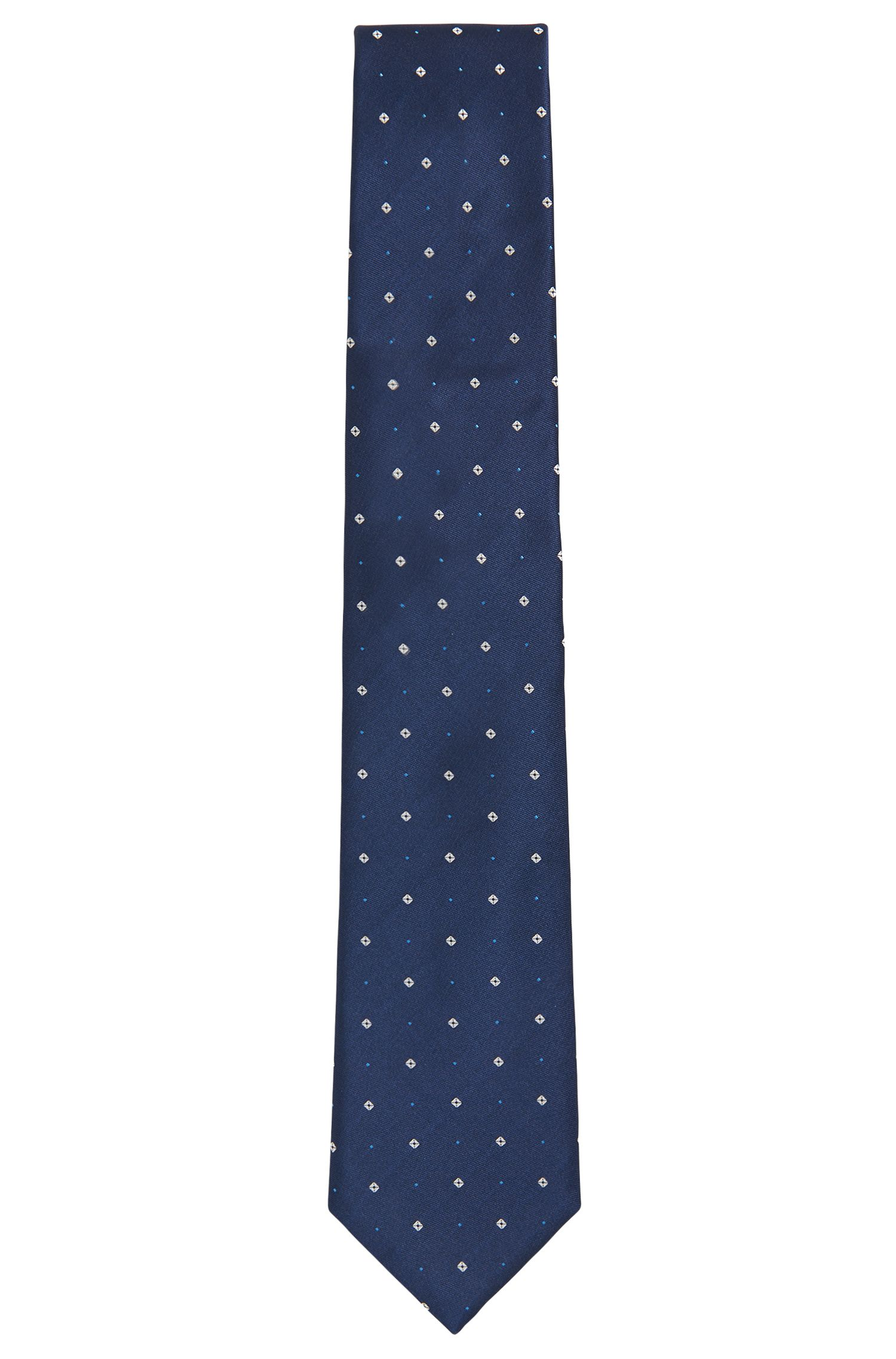 Diamond-Embroidered Italian Silk Tie
