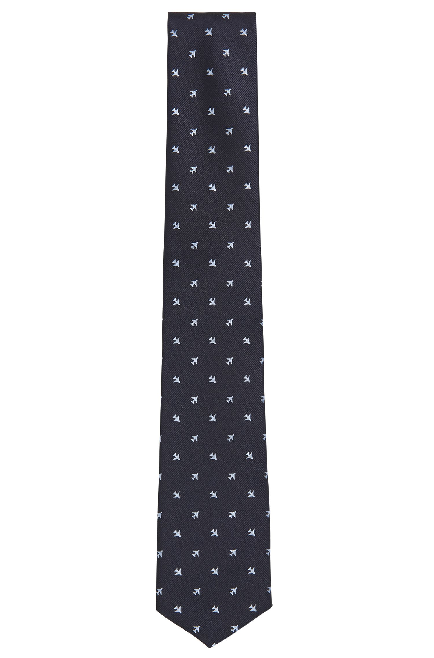 Traveler Airplane Italian Silk Repp Tie