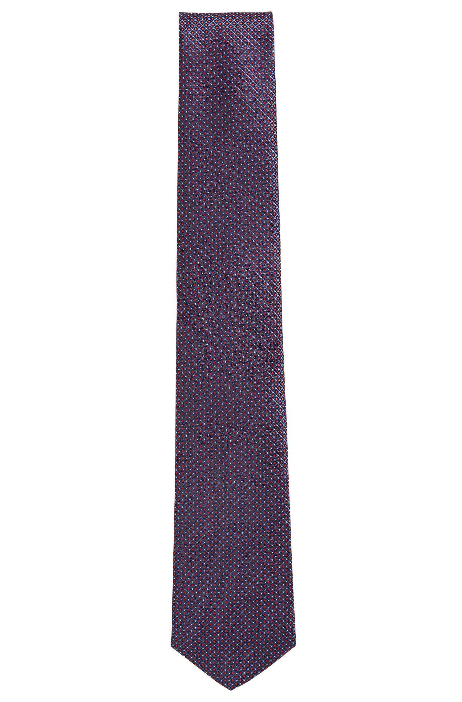 Traveler Dotted Italian Silk Tie, Dark pink