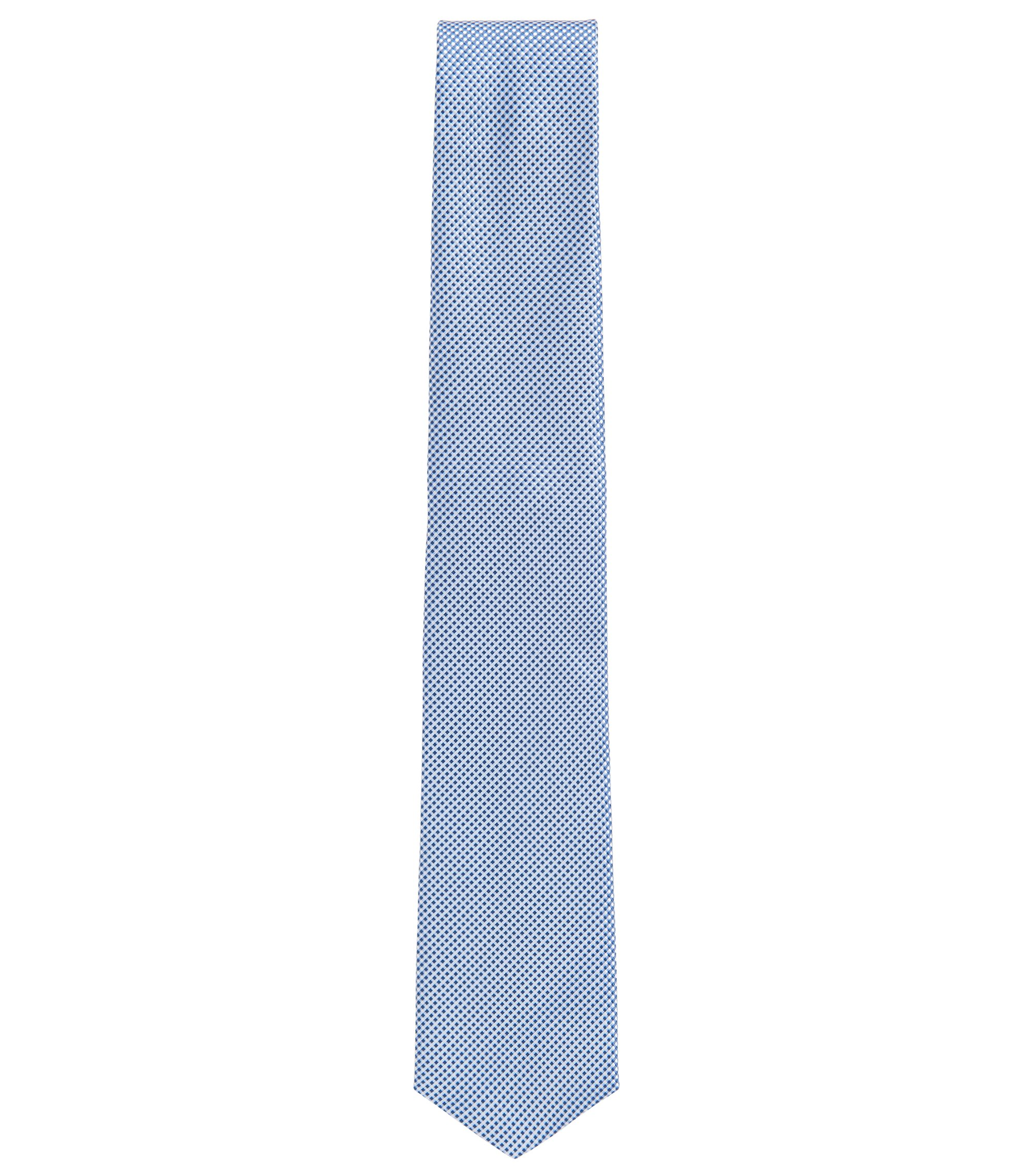Traveler Gingham Italian Silk Tie, Dark Blue