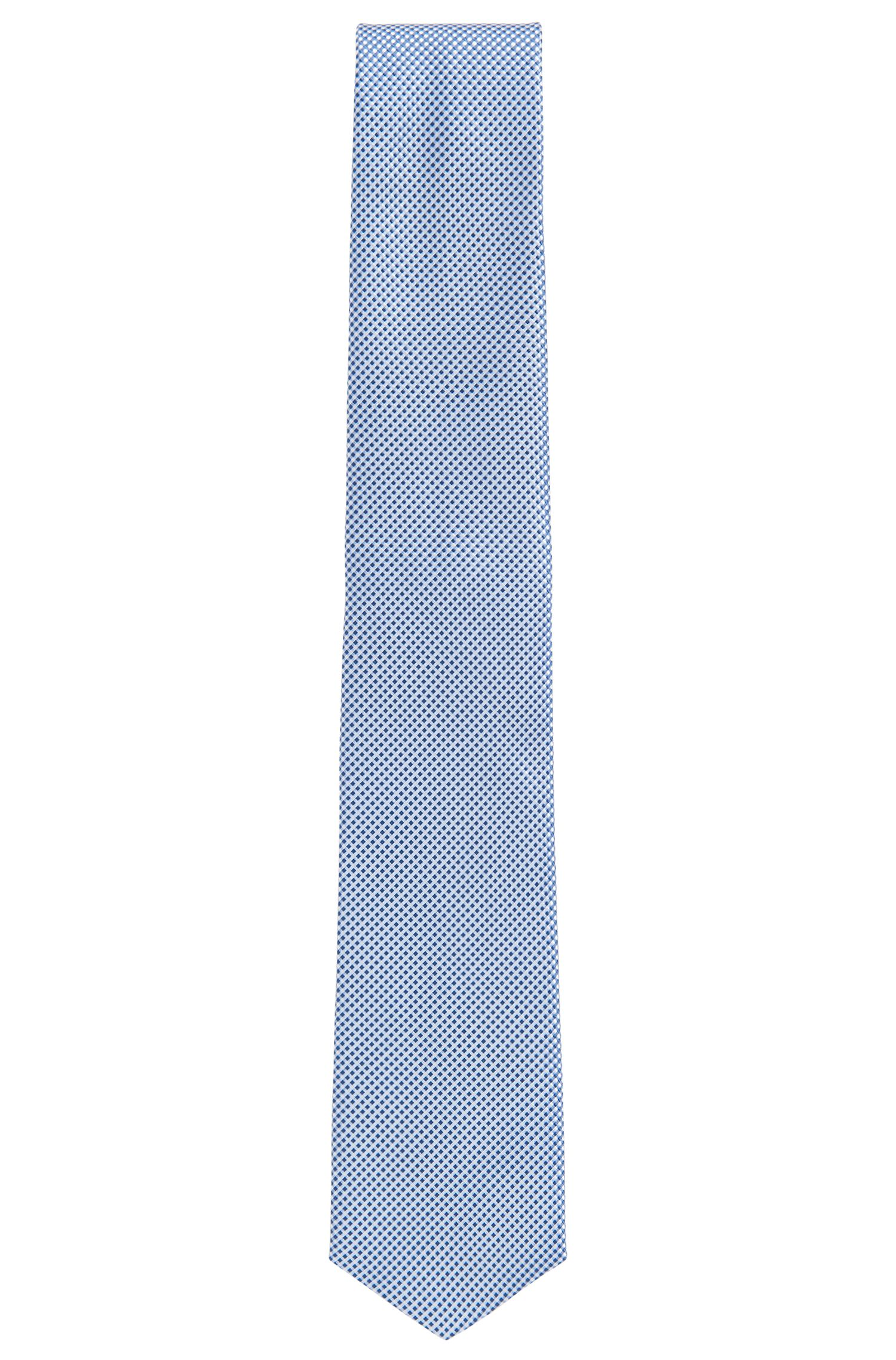 Traveler Gingham Italian Silk Tie, Dark Blue