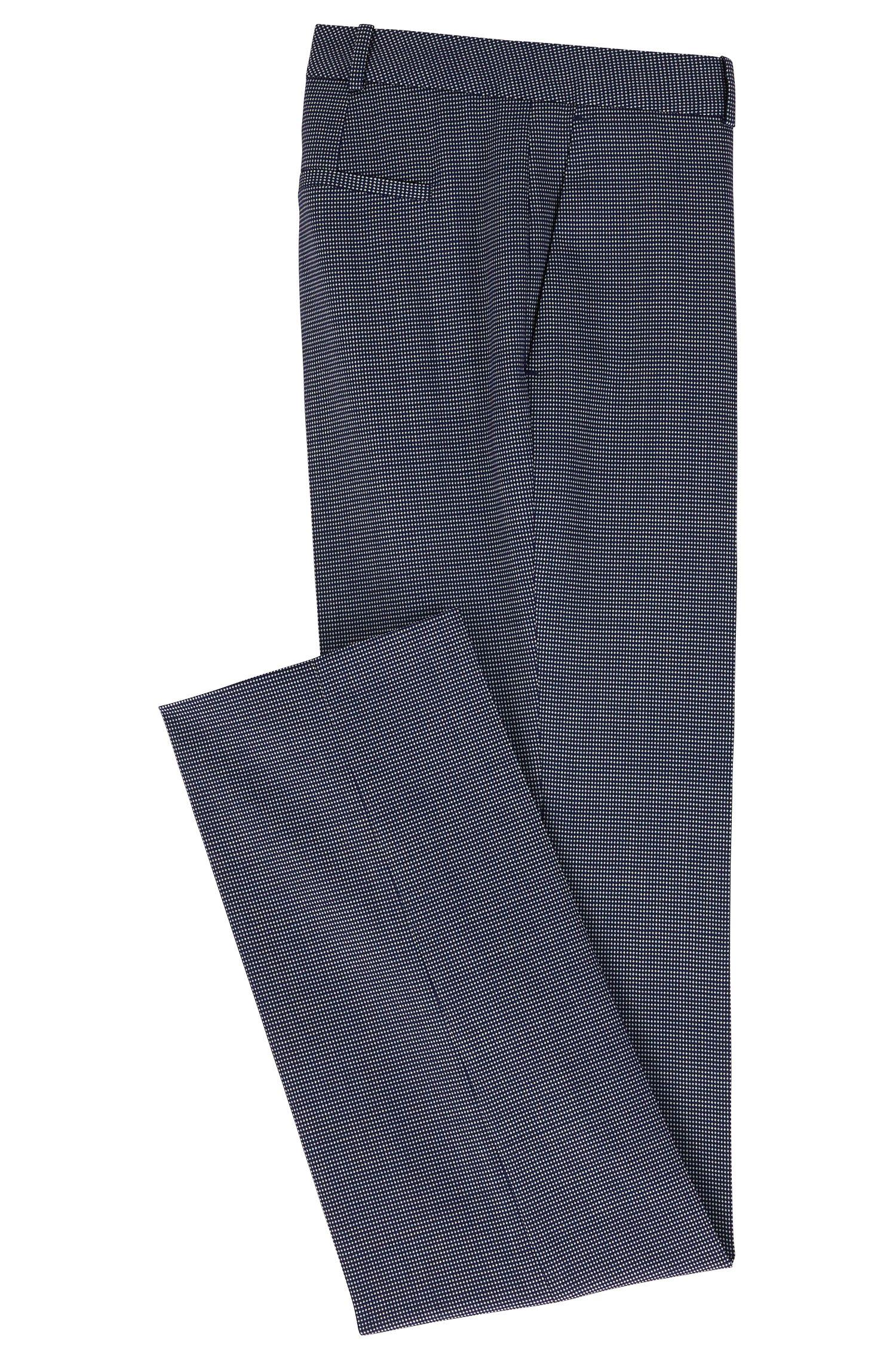 Patterned Stretch Virgin Wool Dress Pant | Tamea