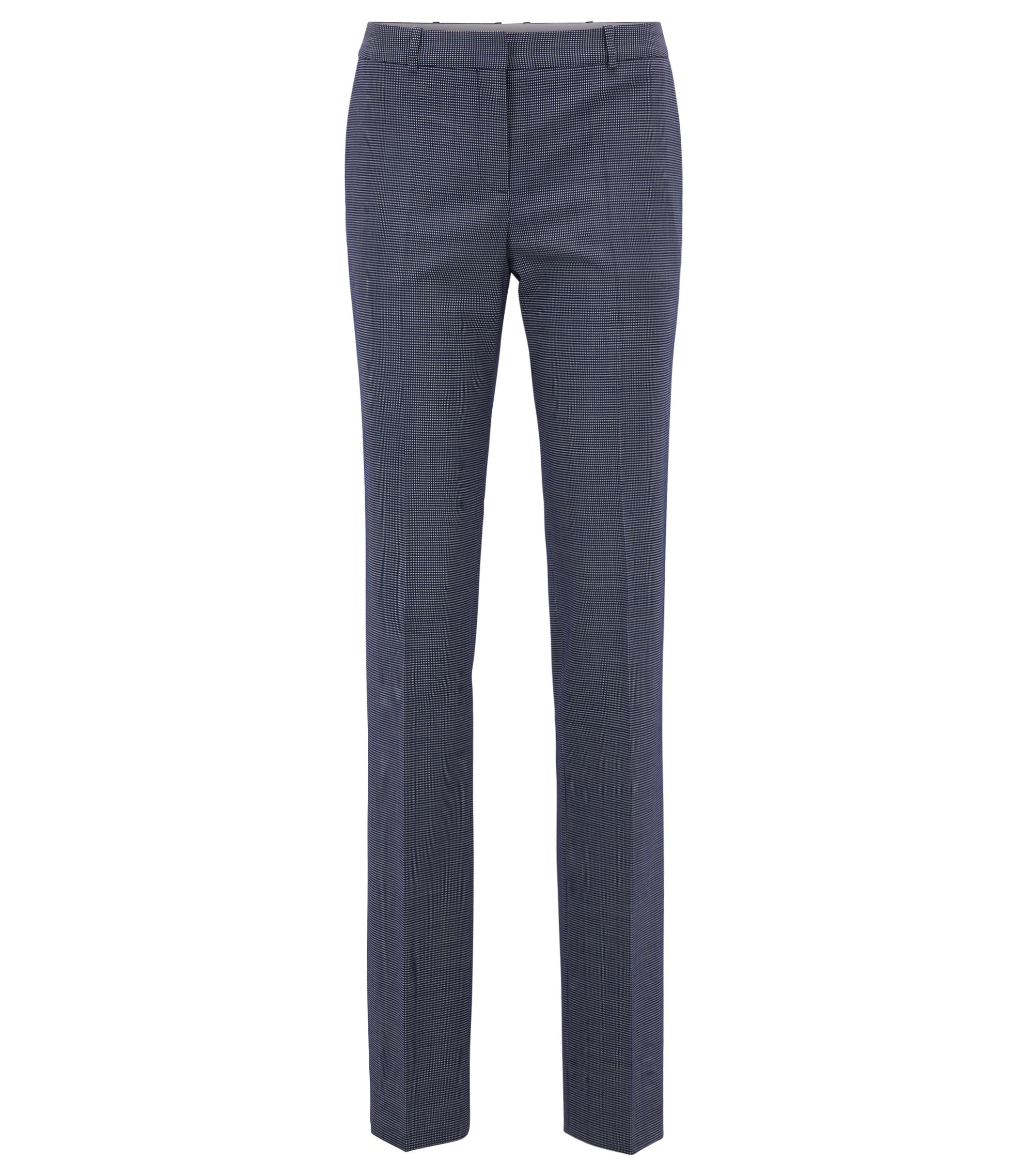 Patterned Stretch Virgin Wool Dress Pant | Tamea, Patterned