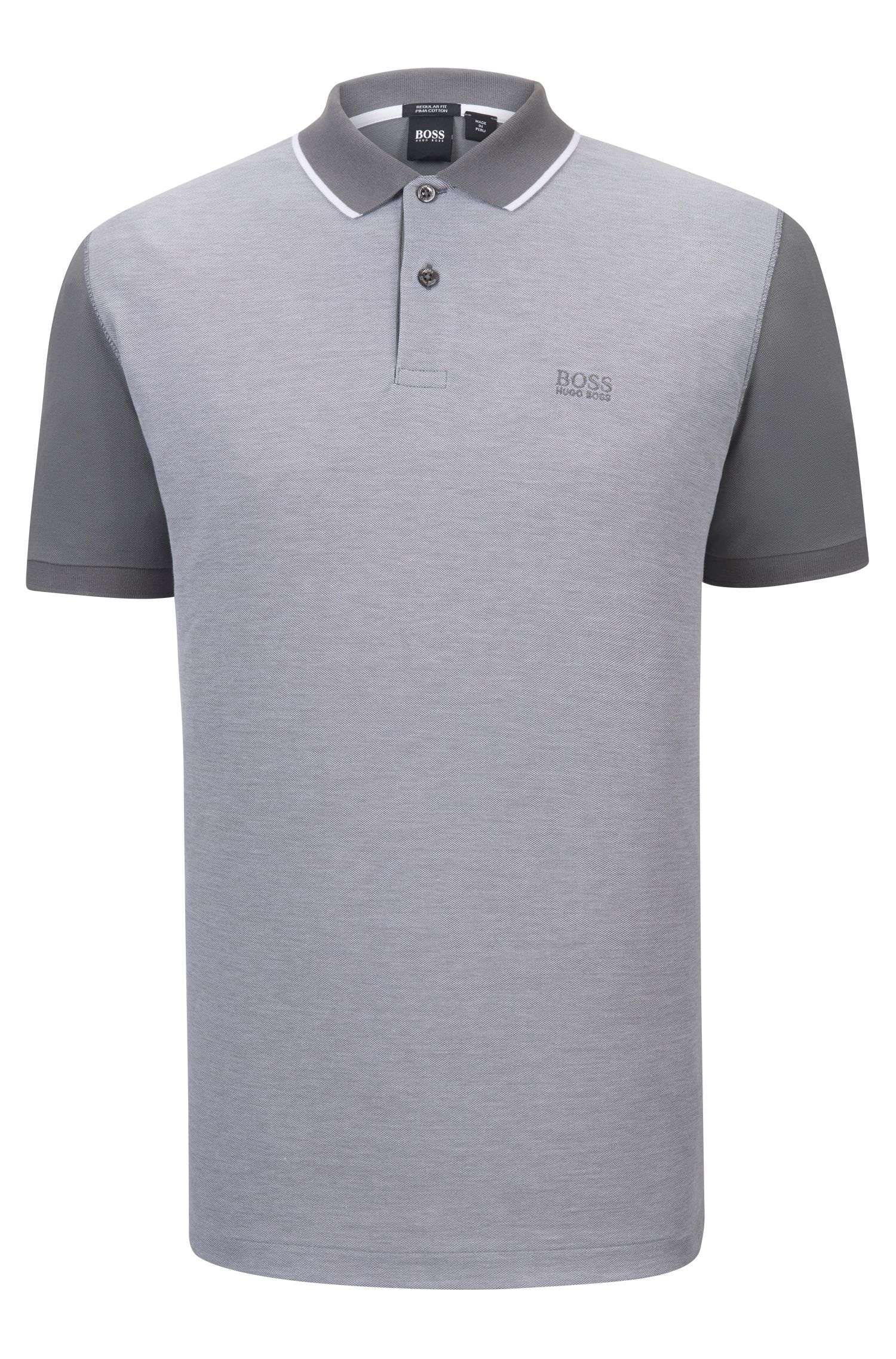 Trimmed Pima Cotton Polo Shirt, Regular Fit | Parlay