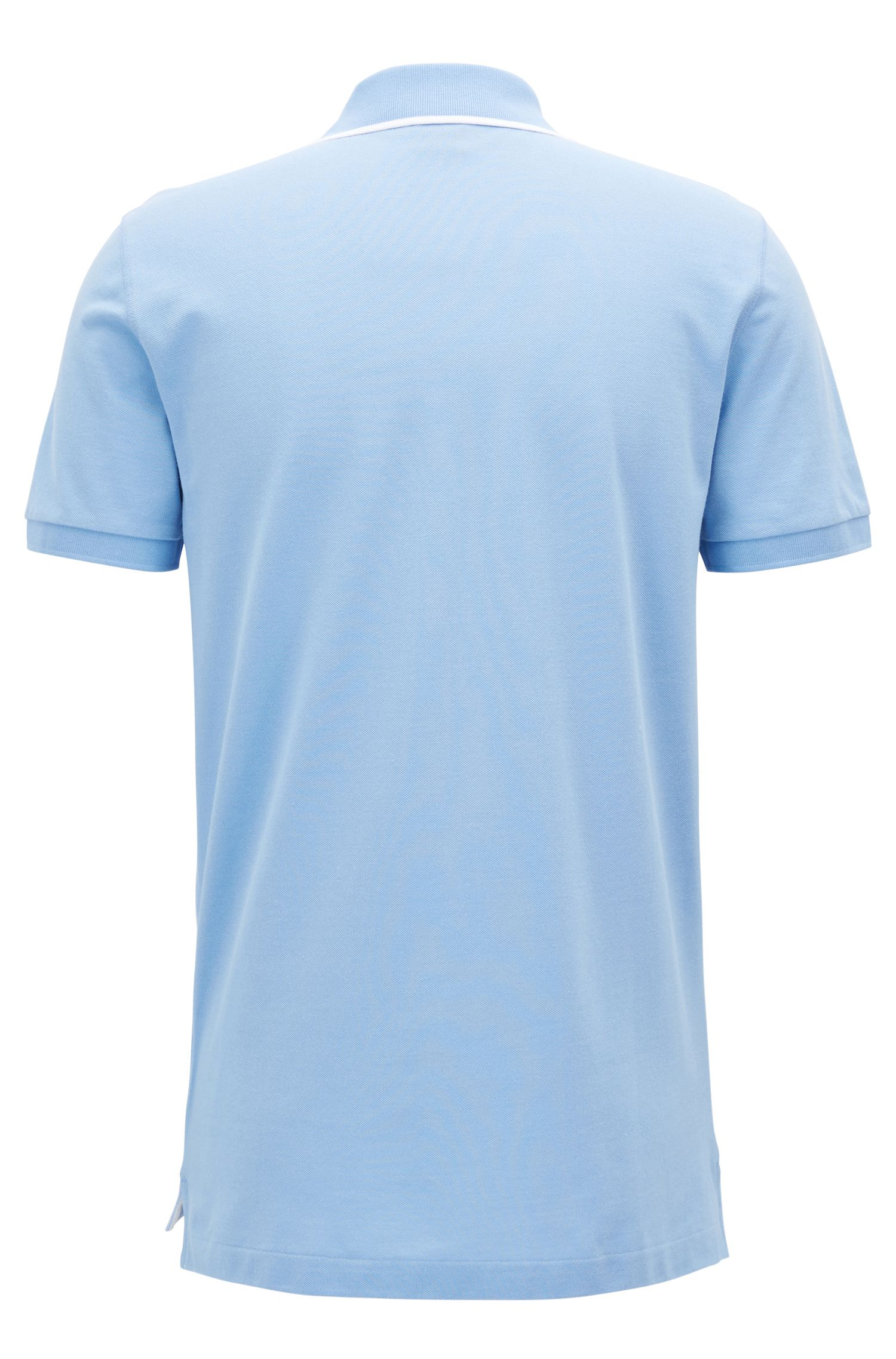 Trimmed Pima Cotton Polo Shirt, Regular Fit | Parlay, Light Blue