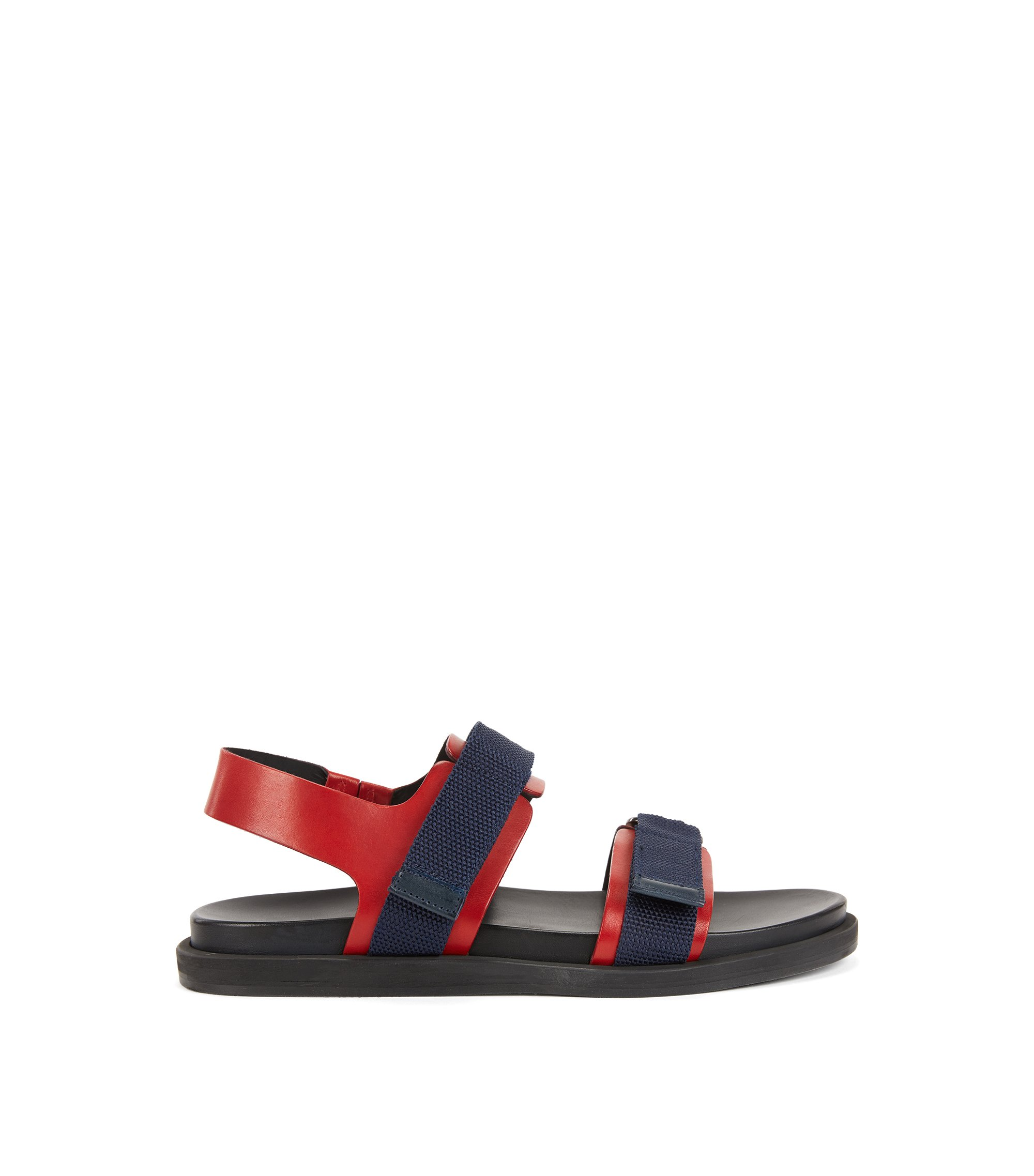 Leather Sandal | Hamptons Sand Vlmx, Red