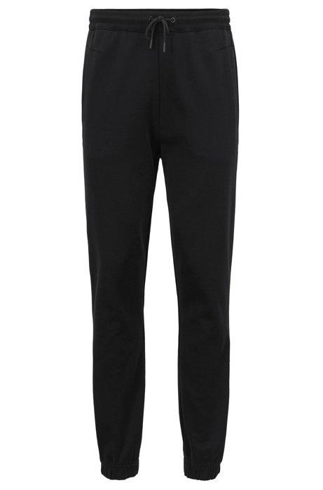 Cuffed slim-fit jogging bottoms with embroidered stripe BOSS vfXf1SRB