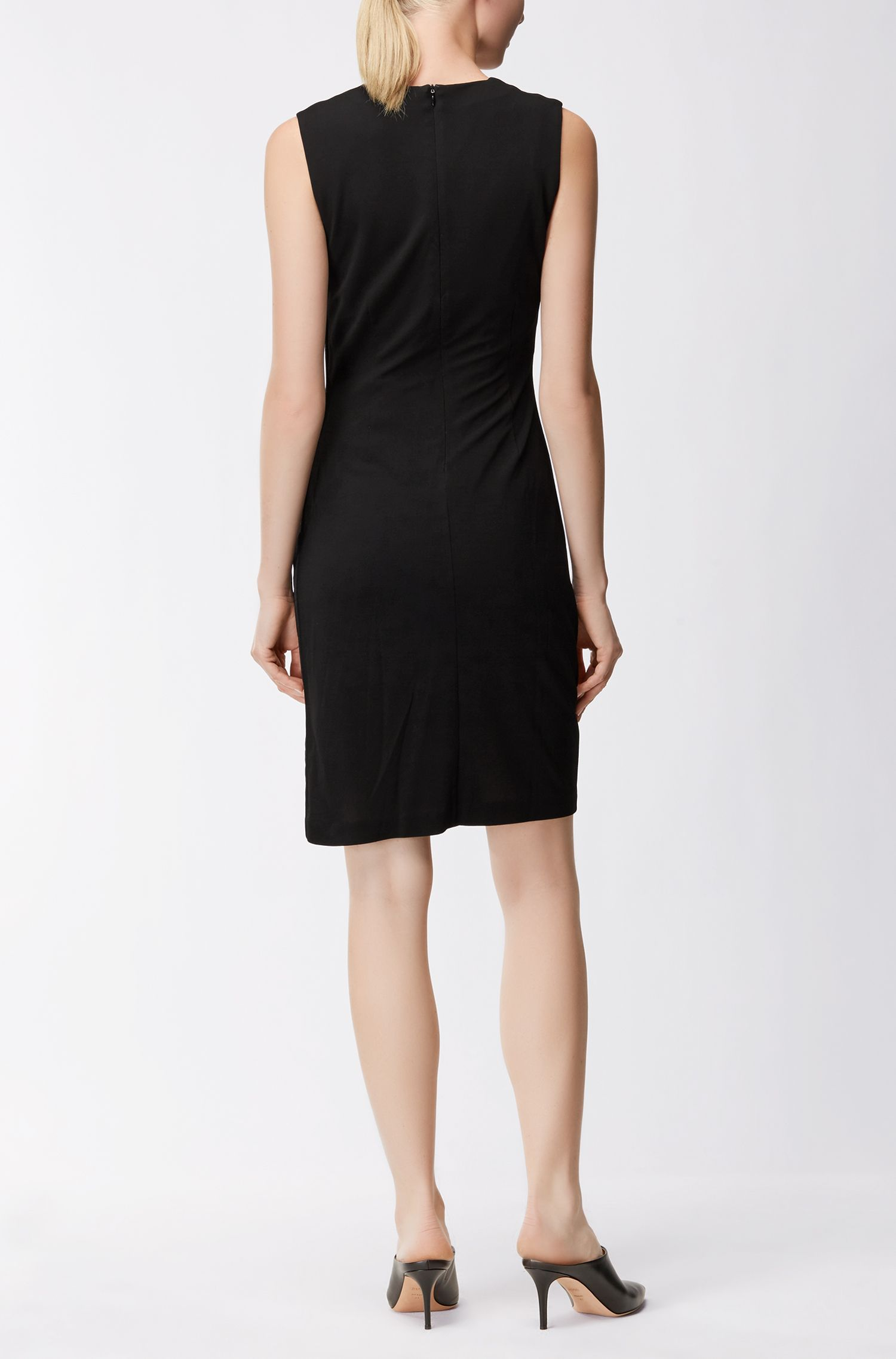 Ruched Sheath Dress | Erela, Black