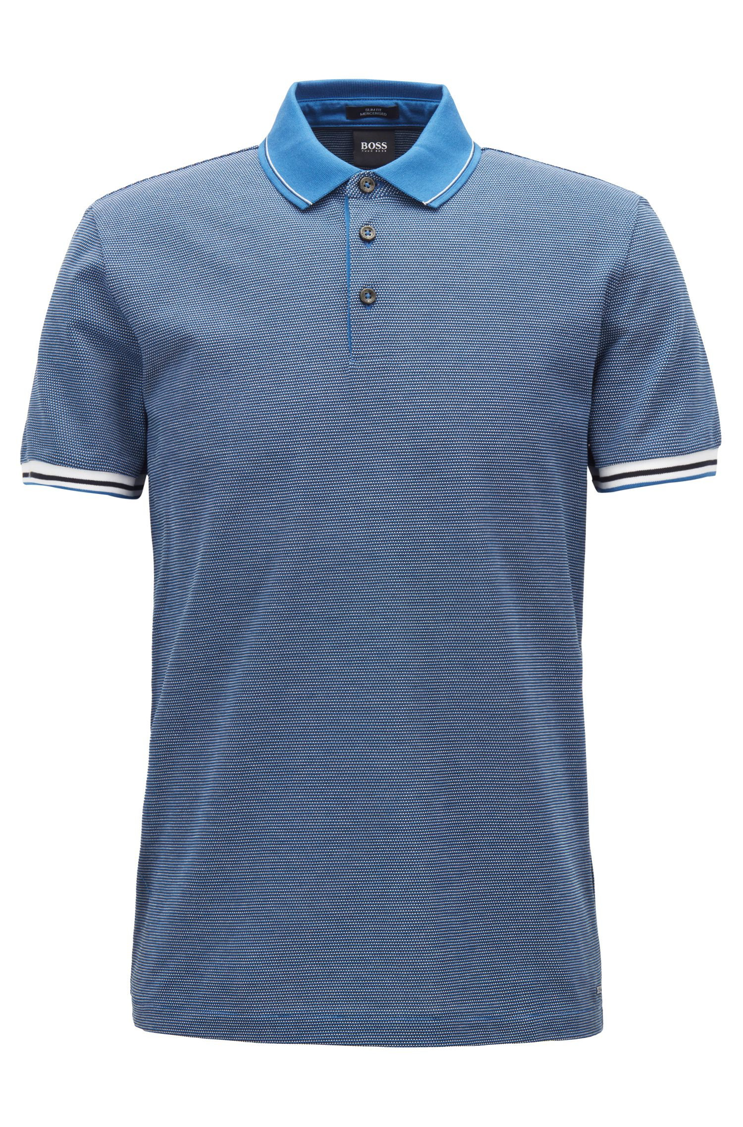 Slim-fit polo shirt with mountaineering-inspired pattern