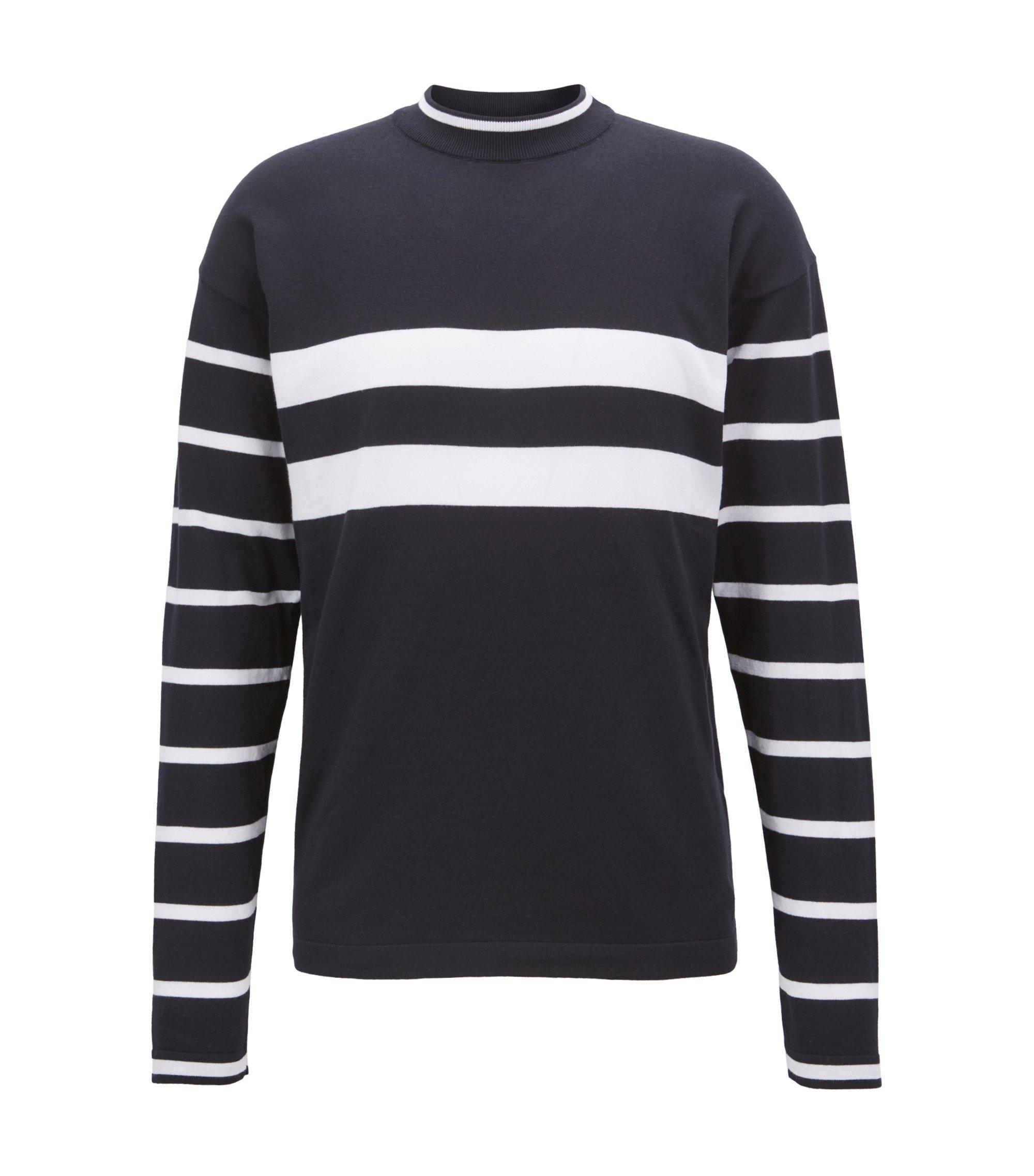Jersey Cotton Sweater | Newquay, Dark Blue