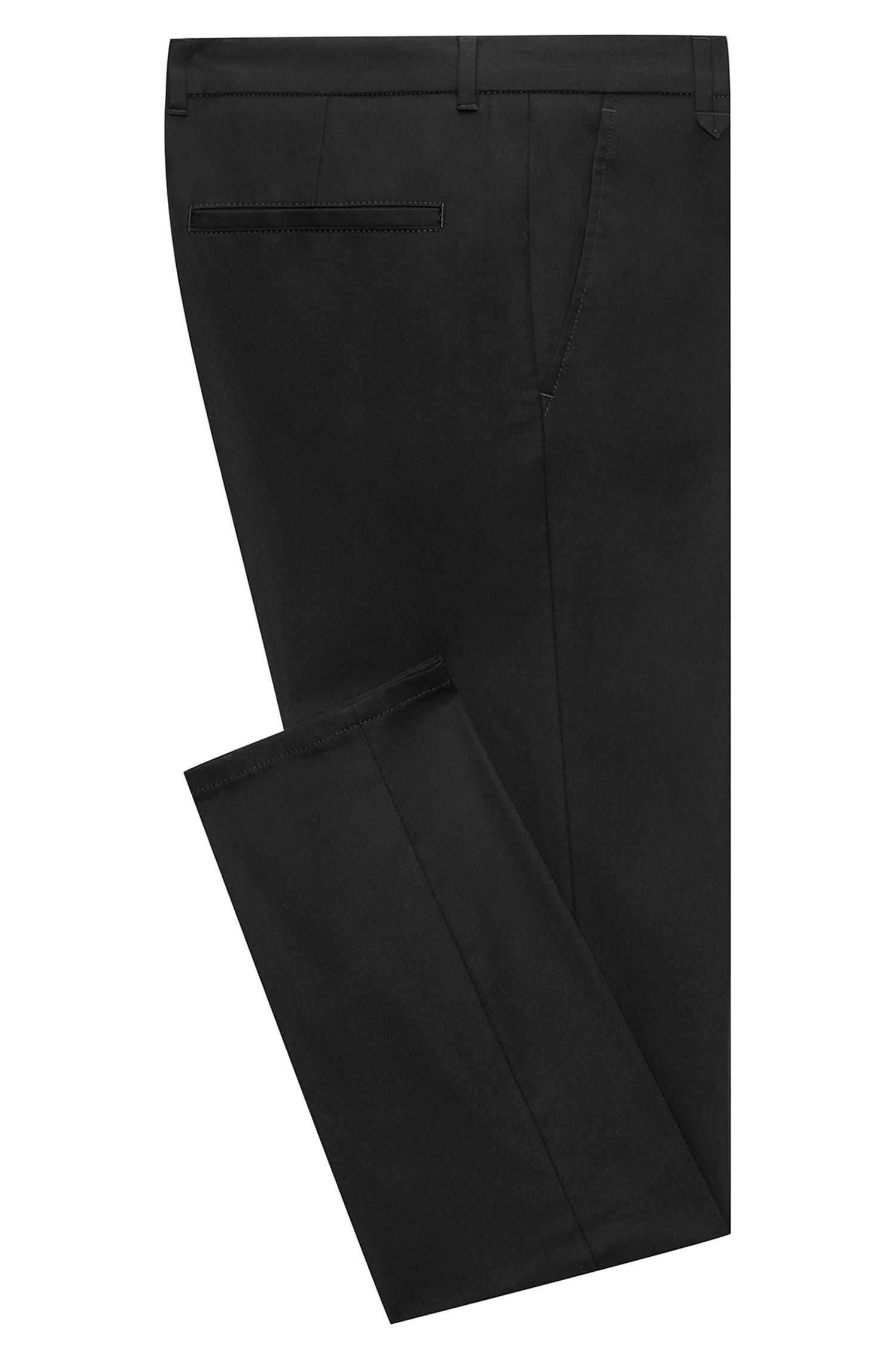 Extra-slim-fit stretch-cotton pants with signature detailing