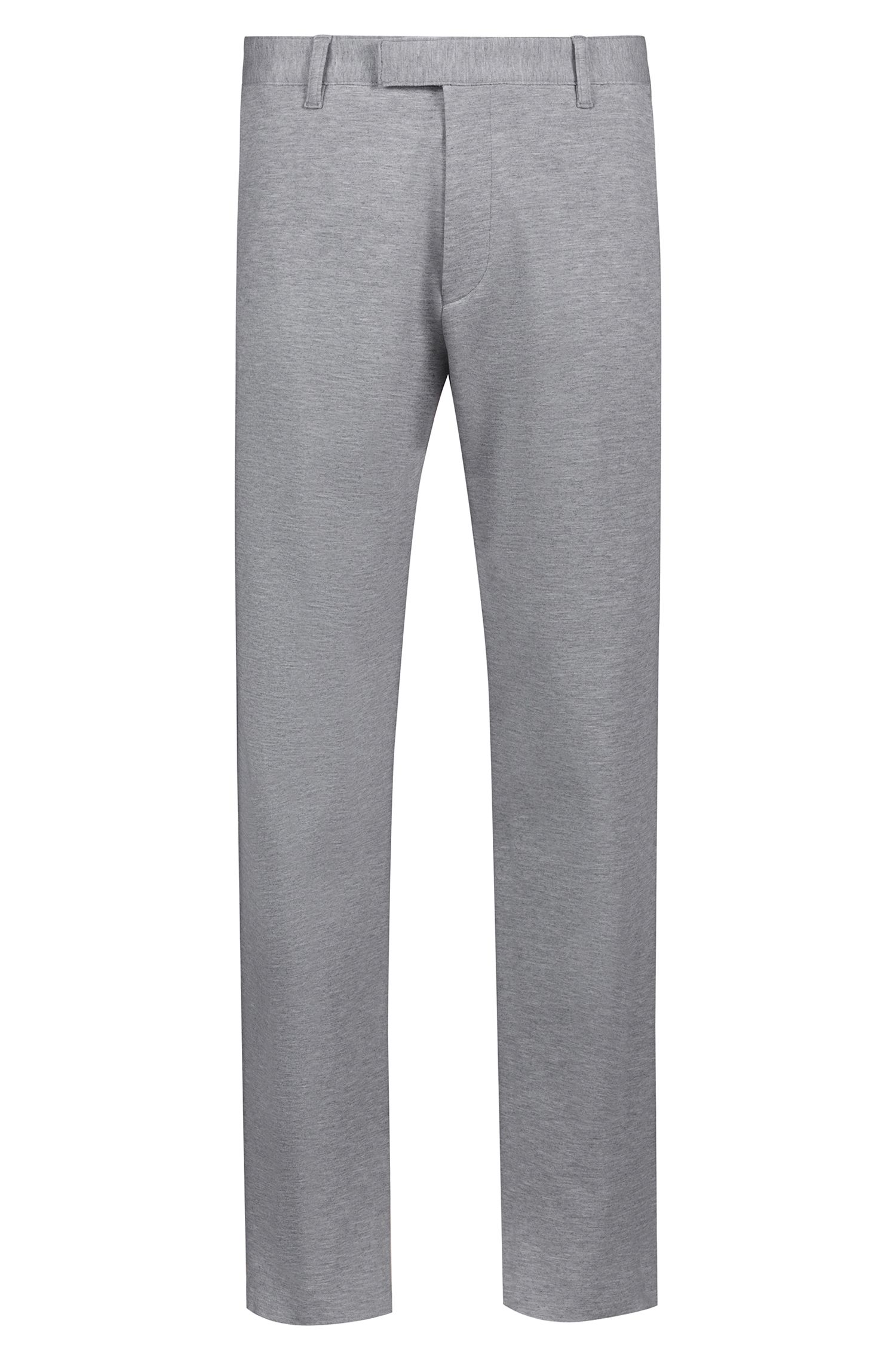 Raw-edge extra-slim-fit chinos in stretch jersey, Open Grey