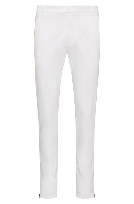 Extra-slim-fit cotton-blend trousers with zipped legs HUGO BOSS Clearance Fake ZvFLkD6tU