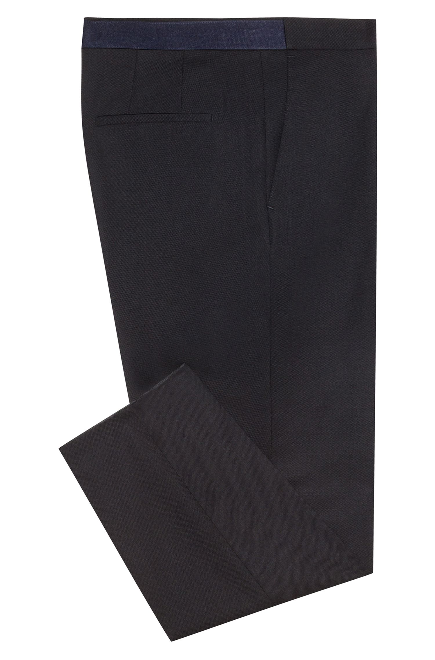 Extra-slim-fit virgin-wool pants with cropped length