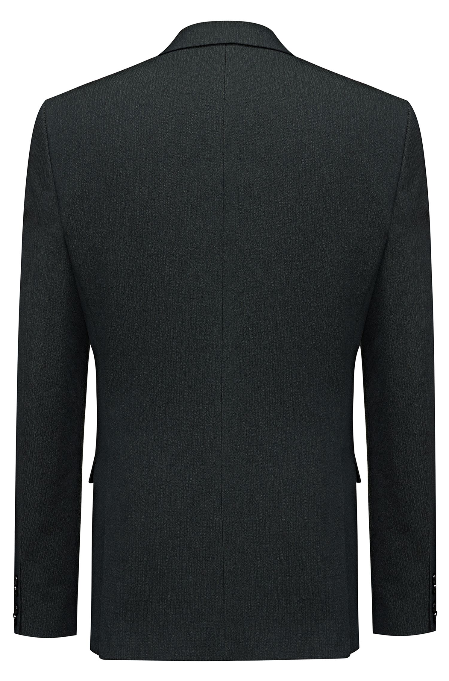 Extra-slim-fit jacket in a structured wool blend