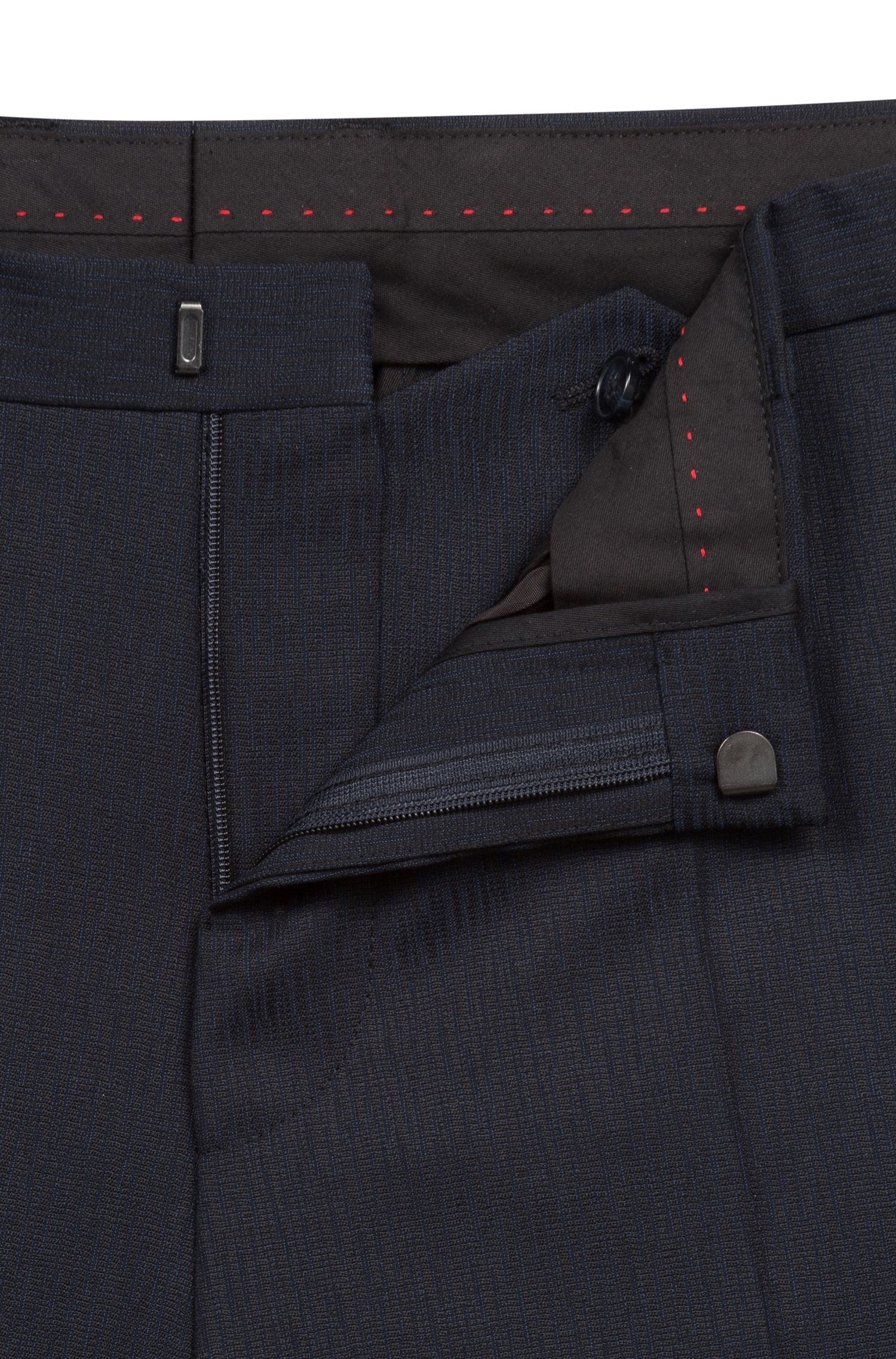 Extra-slim-fit suit in structured virgin wool